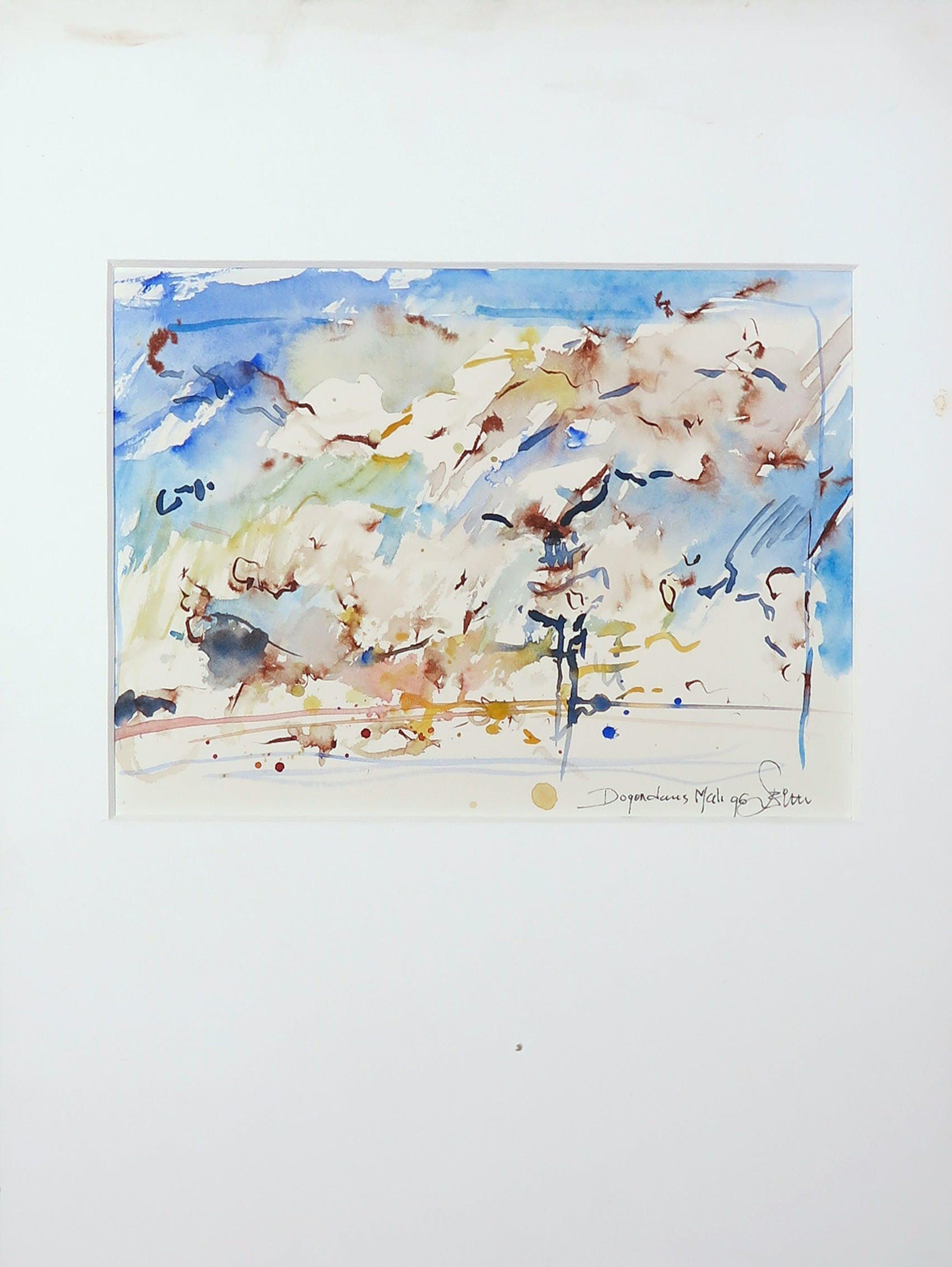 Franscz Witte - Lot van 3 werkjes op papier, Abstract kopen? Bied vanaf 1!