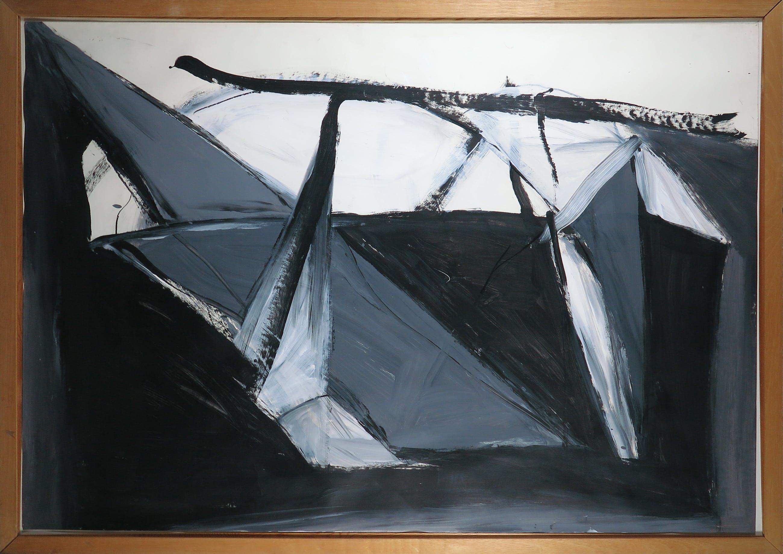 Raymond Perridon - Acryl op papier, Zonder titel - Ingelijst (Groot) kopen? Bied vanaf 1!
