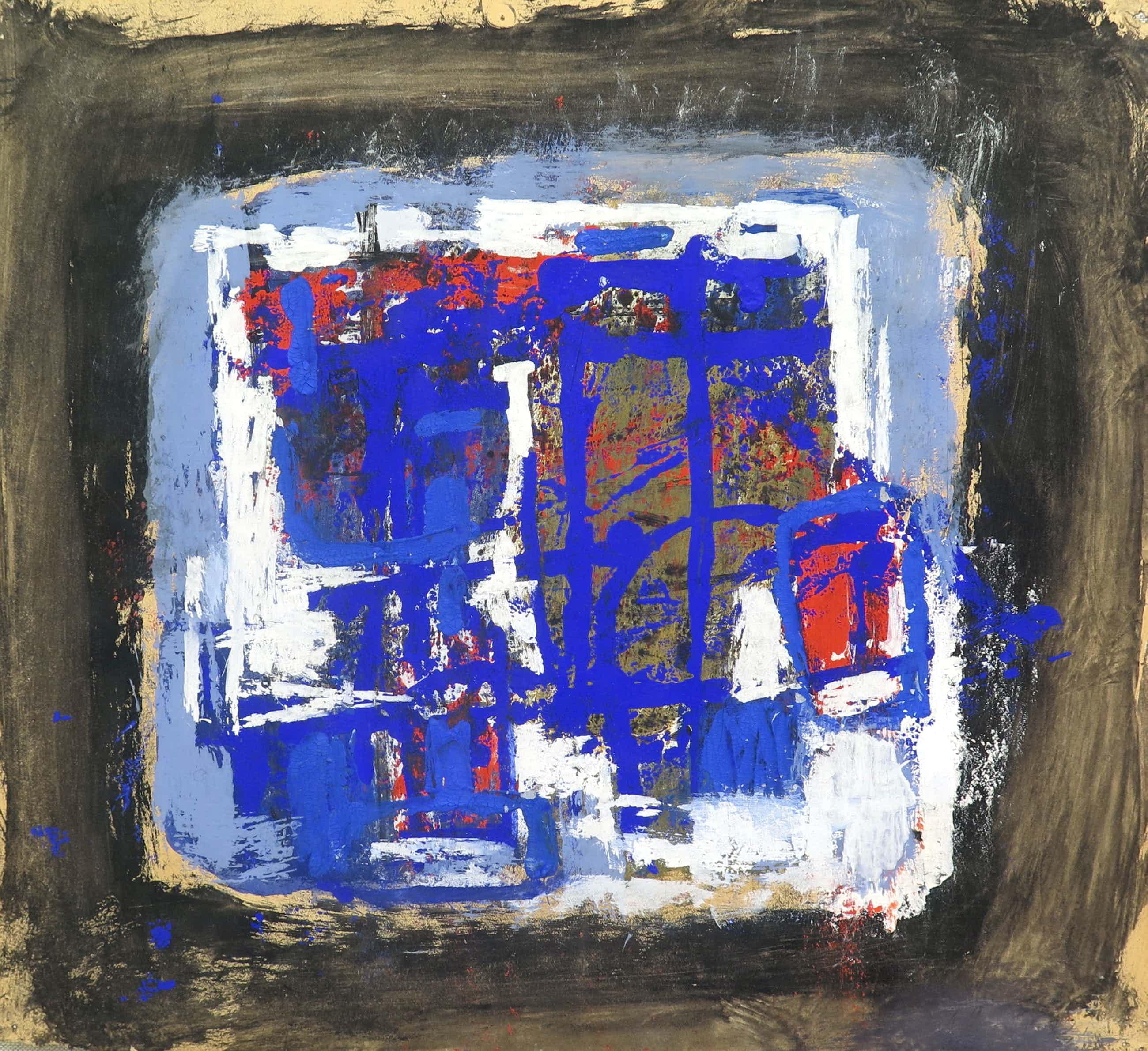Jaap Nanninga - Abstracte compositie, gouache kopen? Bied vanaf 850!