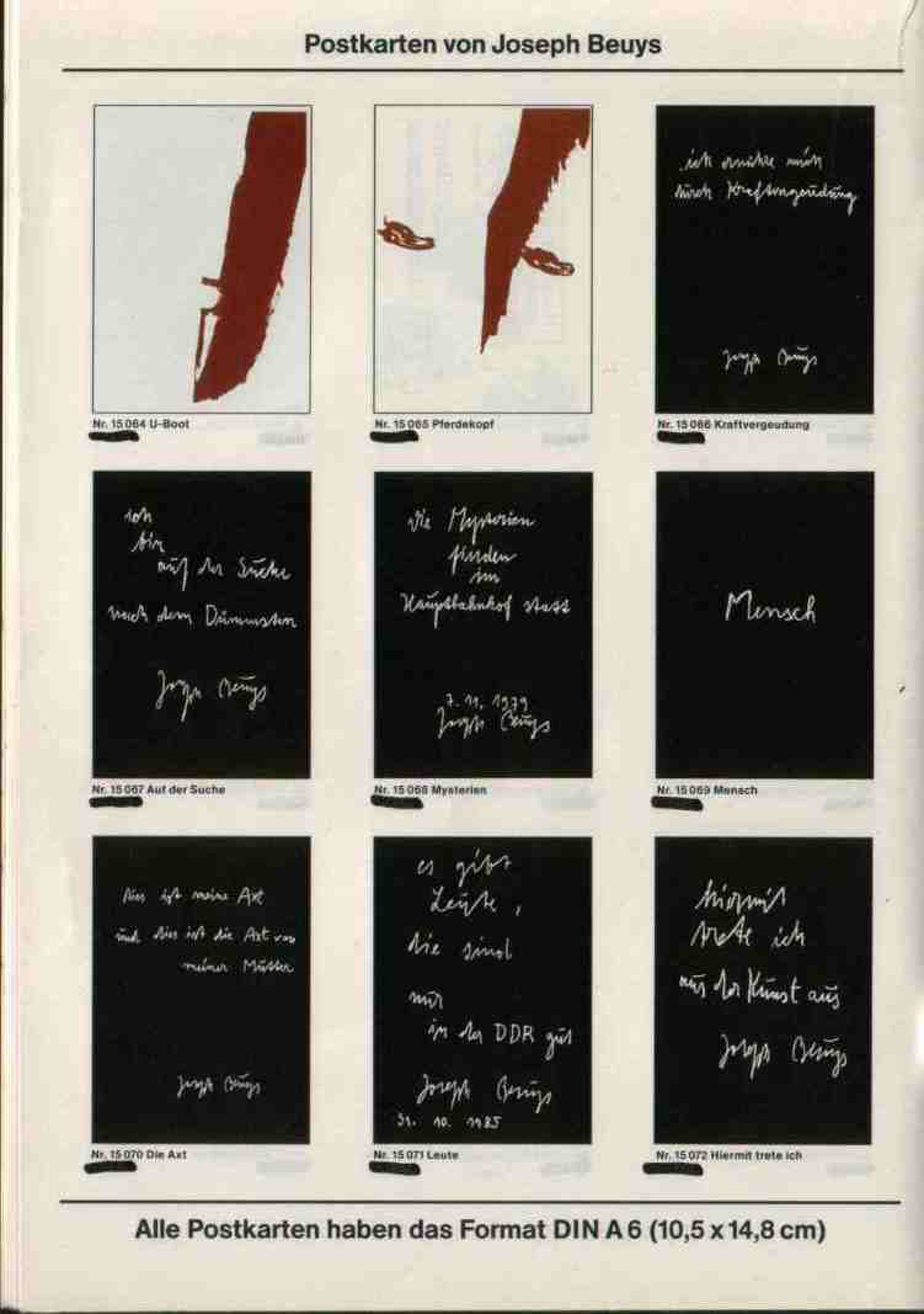 Joseph Beuys - Postkarten kopen? Bied vanaf 400!