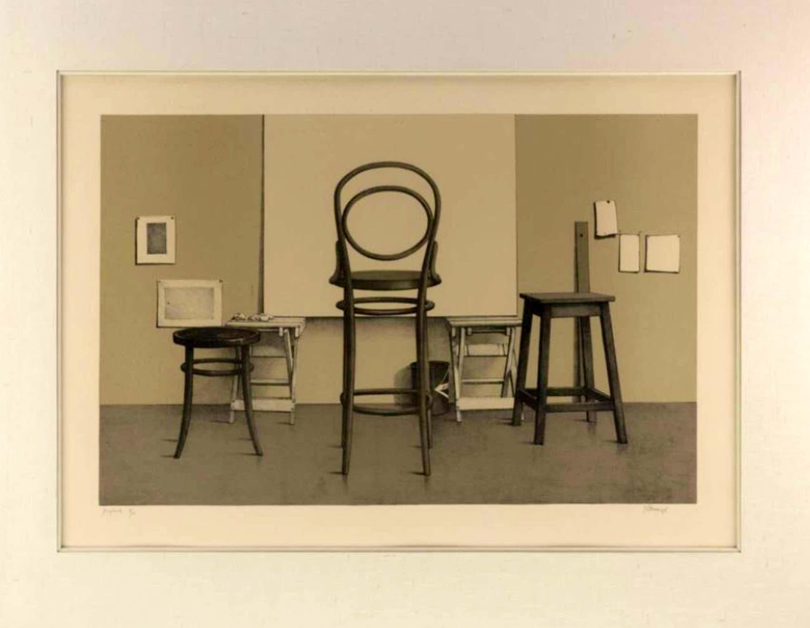 Roger Wittevrongel - Lithografie, Ingelijst - 'Atelier'  kopen? Bied vanaf 119!