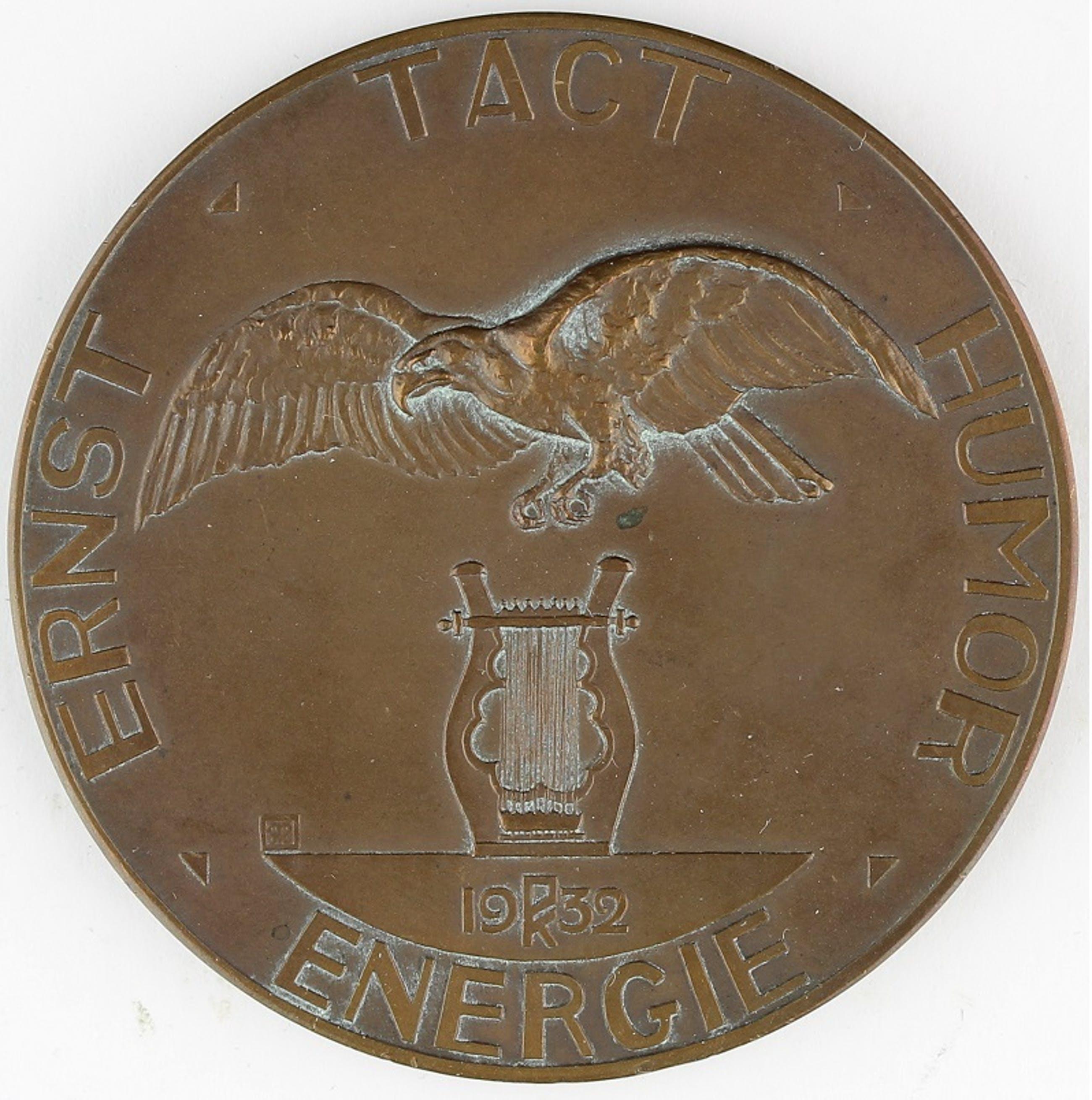 Gra Rueb - Bronzen penning: Dr Johan Wagenaar, 1932 kopen? Bied vanaf 45!