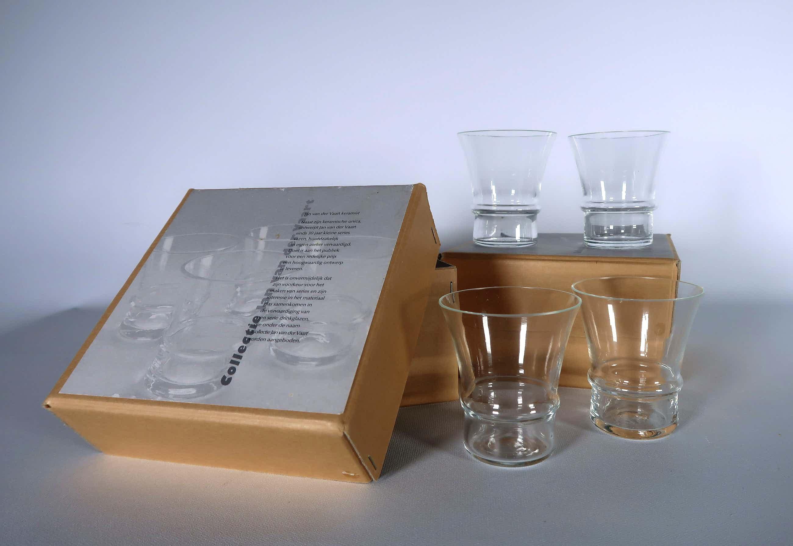 Jan van der Vaart - Glas, 8 glazen uit ''Collectie Jan van der Vaart'' kopen? Bied vanaf 55!