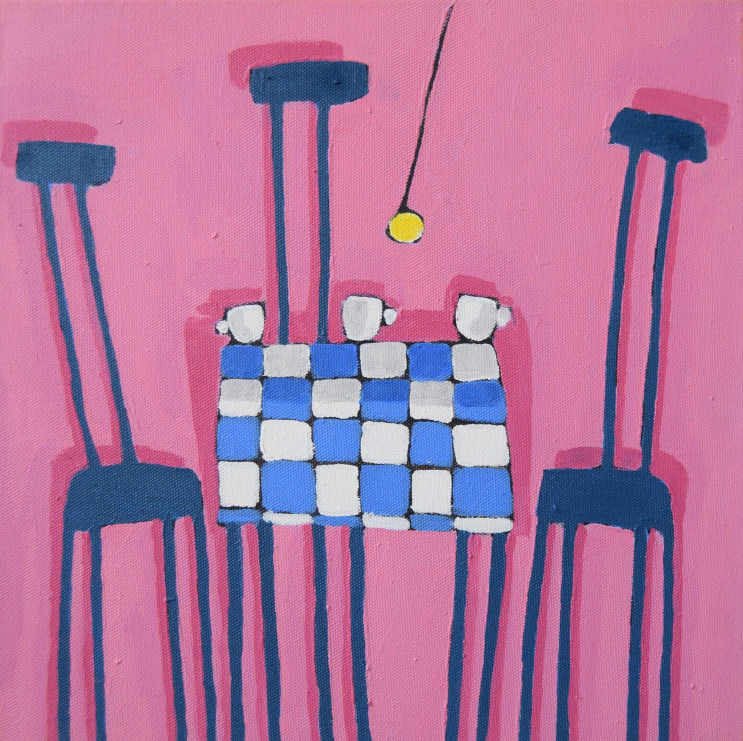 Peter Bastiaanssen - interieur met roze kopen? Bied vanaf 200!