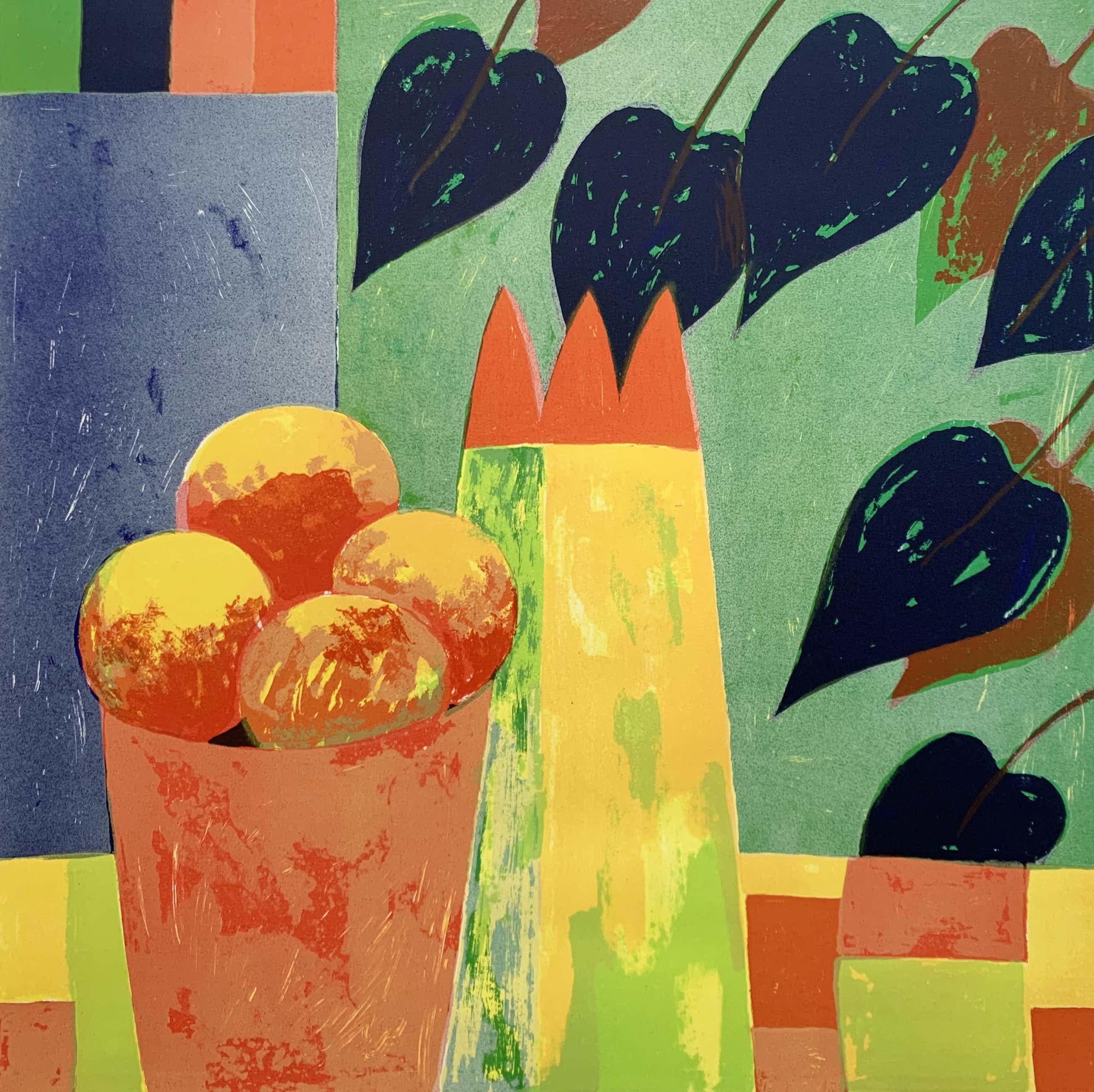 Fenneke van der Elst - kleurenlitho - 'Stilleven V' - 1995 (Zeer kleine oplage) kopen? Bied vanaf 45!