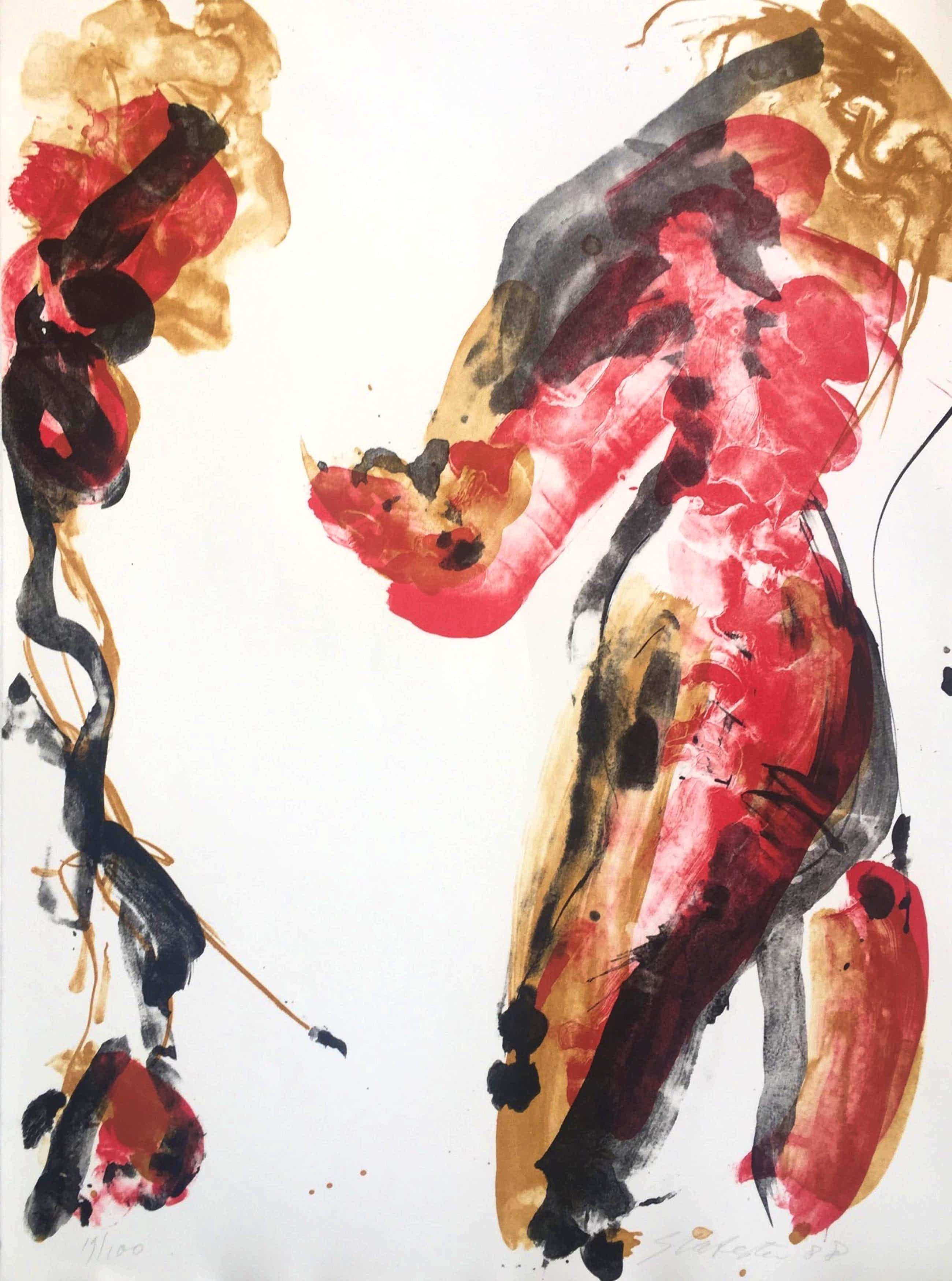 Ger Lataster - abstracte litho - 1988 - oplage 100 ex kopen? Bied vanaf 90!