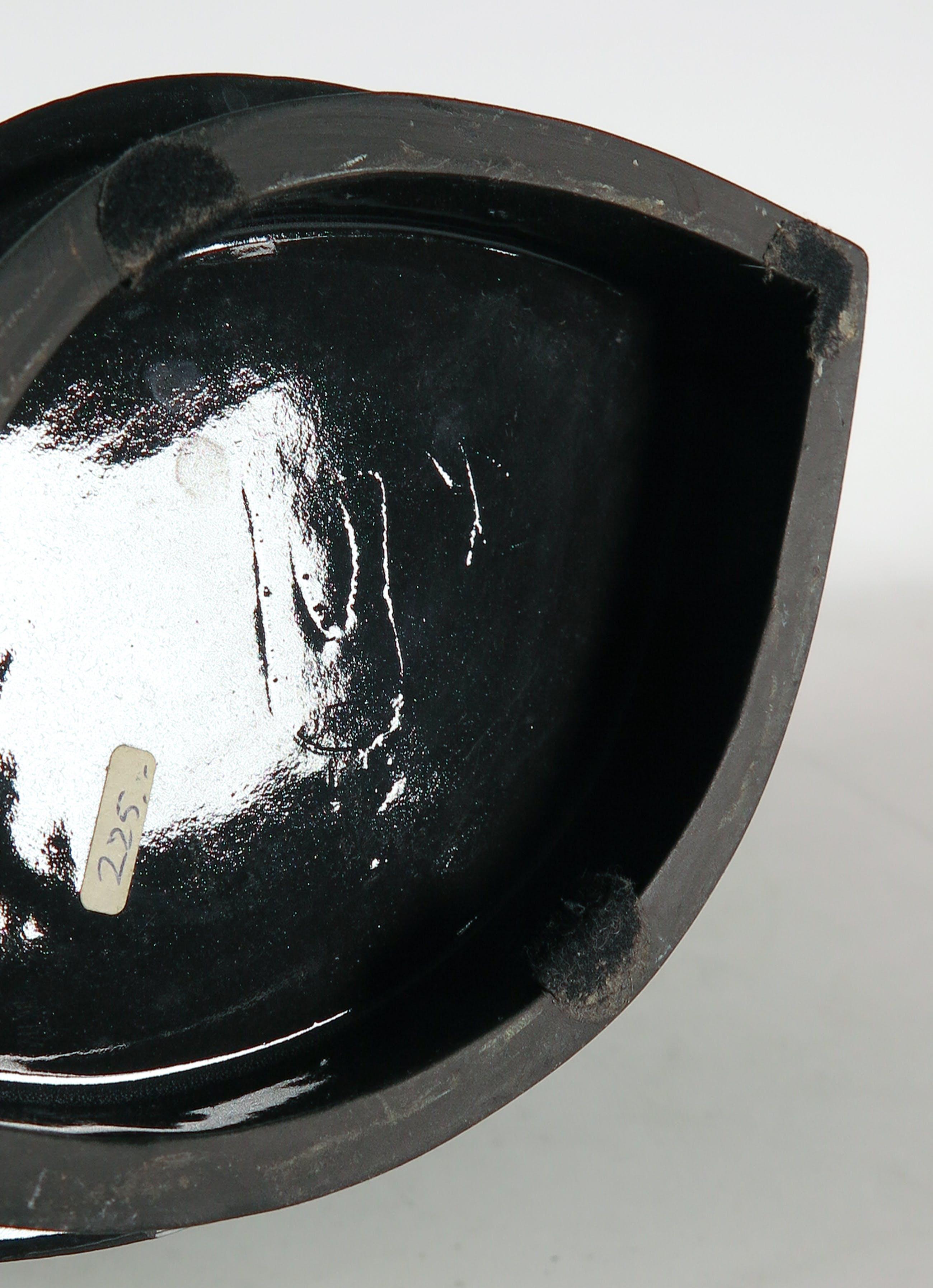 Jan Kamphuis - Aardewerk, Brede vaas met geschulpte rand kopen? Bied vanaf 1!