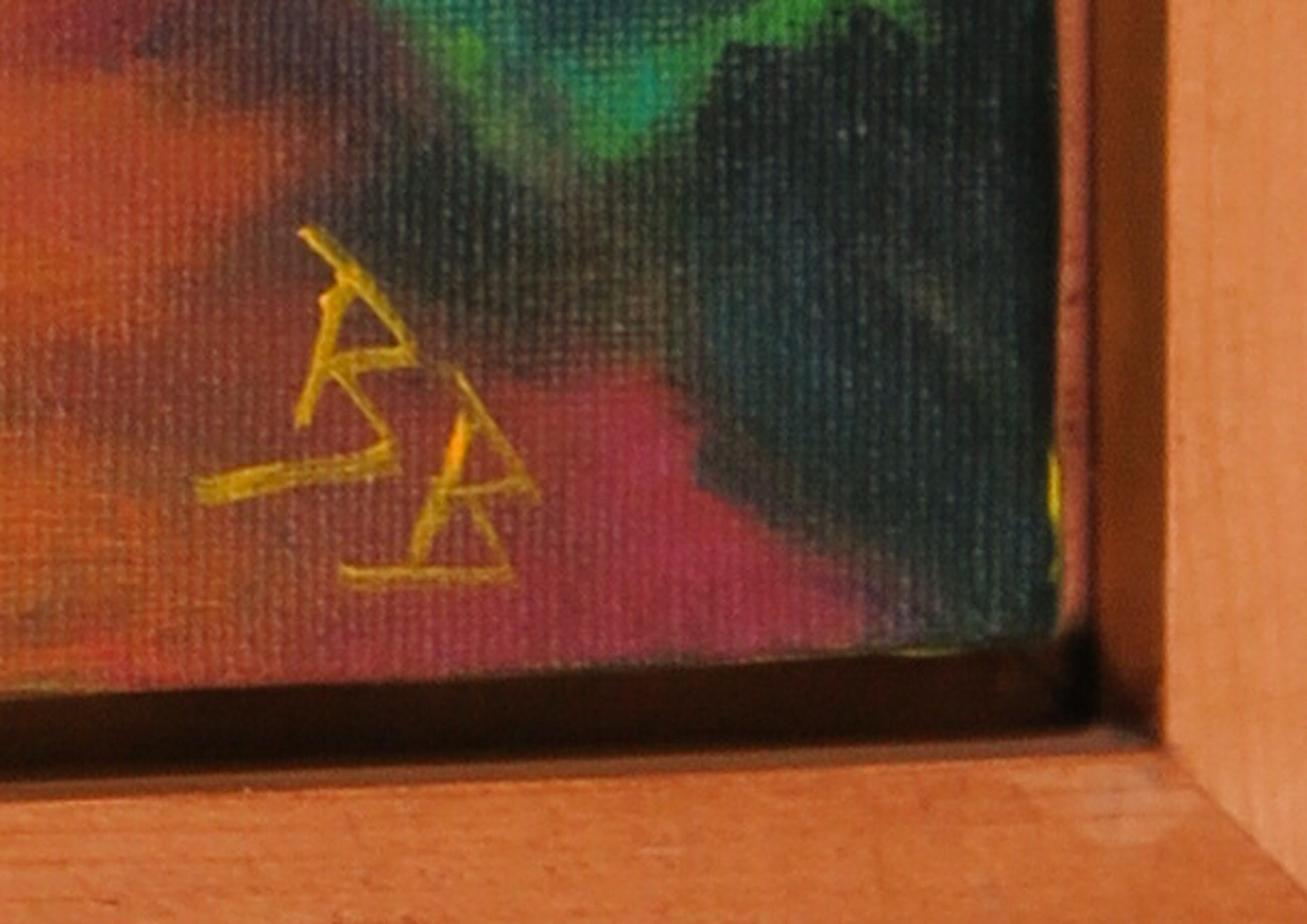 Niet of onleesbaar gesigneerd - Acrylverf op doek, Zonder titel - Ingelijst kopen? Bied vanaf 1!