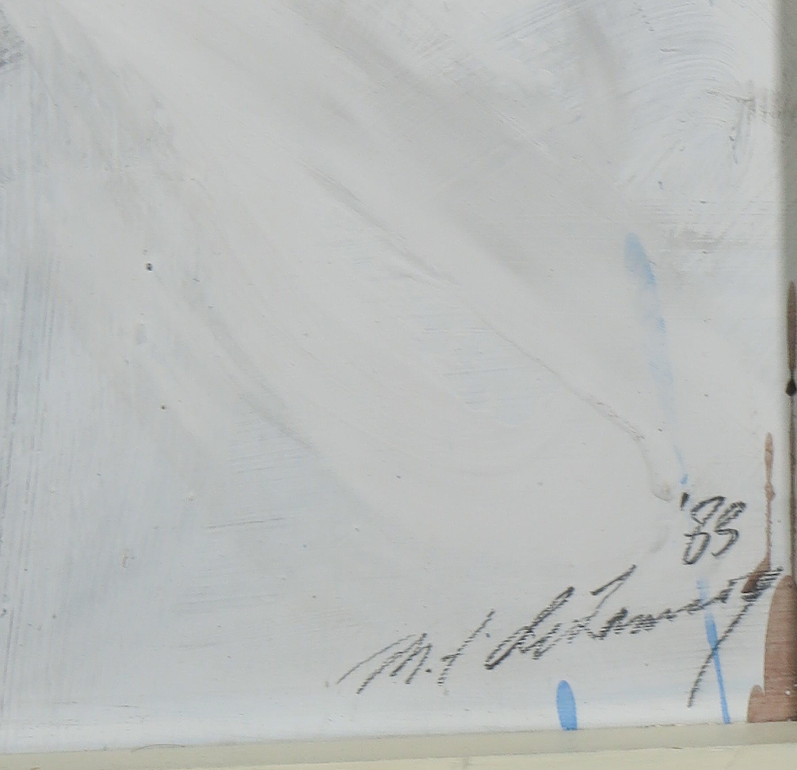 Monique de Lannoy - Acryl op karton, Eressos - Ingelijst (Groot) kopen? Bied vanaf 1!