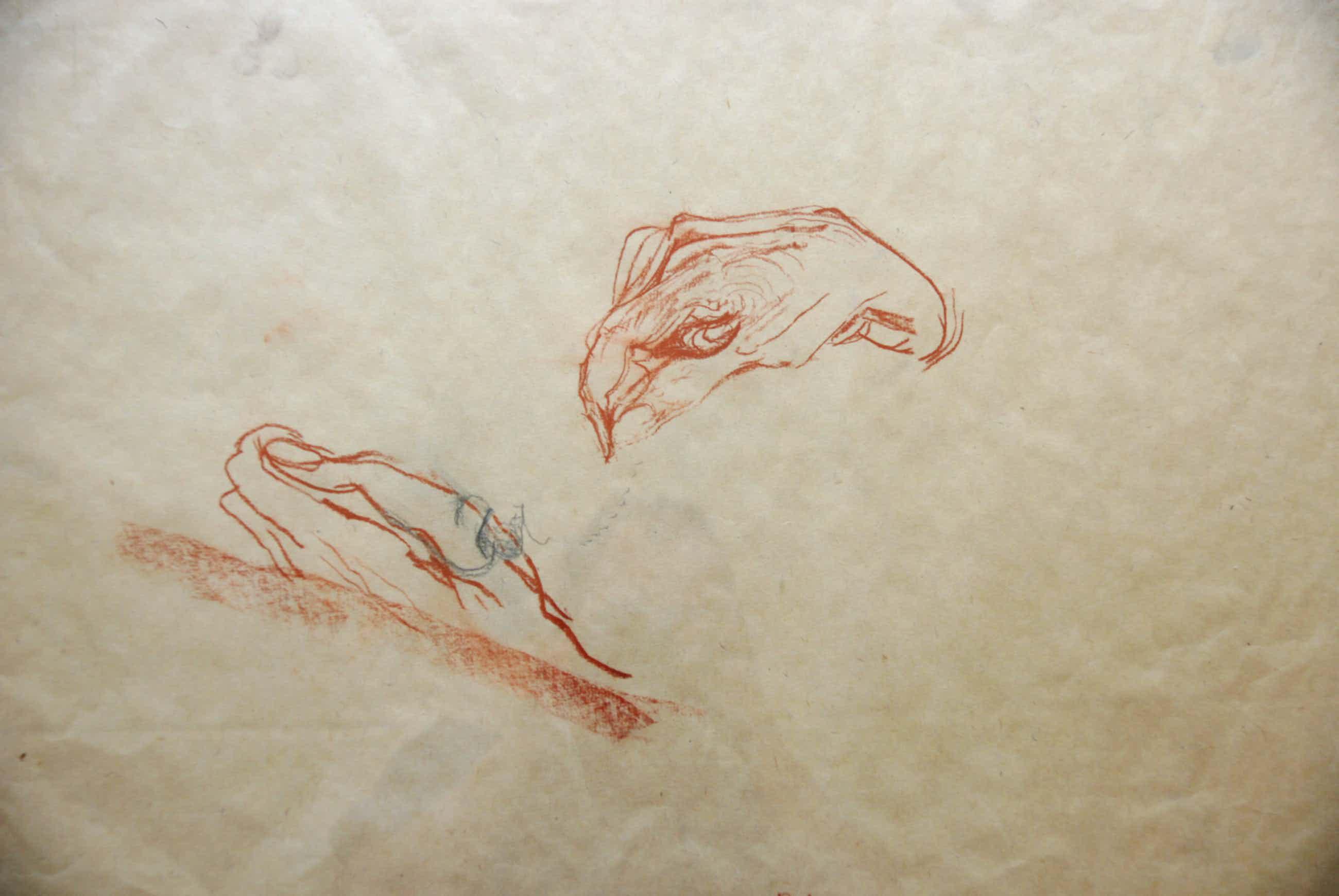 Jasper Krabbe - tekening uit de nalatenschap van uitgever Van Gennep kopen? Bied vanaf 395!
