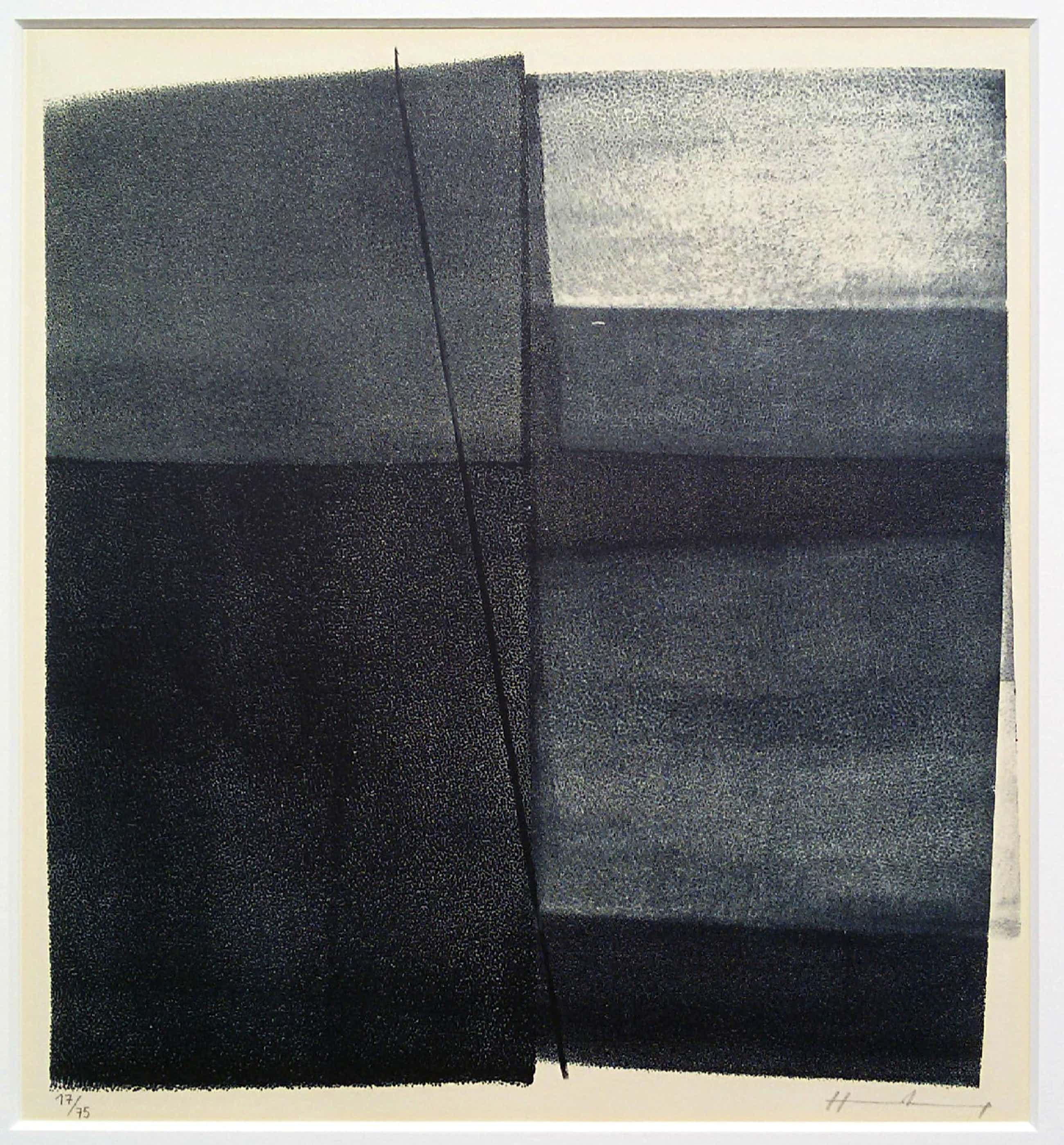 Hans Hartung - Abstracte compositie, litho (mooi ingelijst) kopen? Bied vanaf 375!