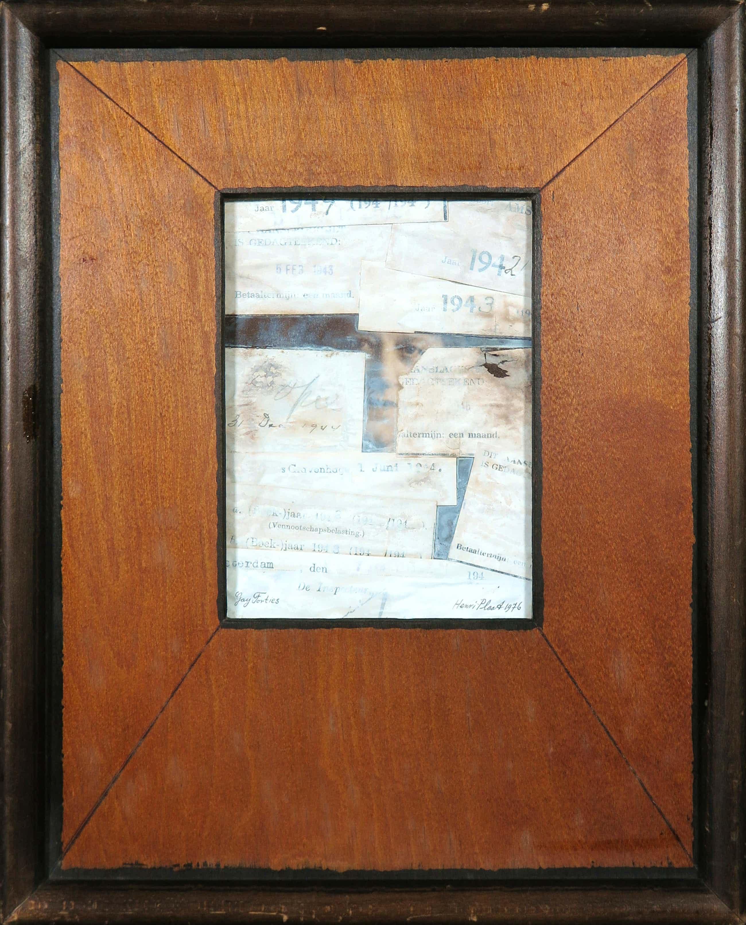 Henri Plaat - Collage van documenten, Gay Forties kopen? Bied vanaf 160!