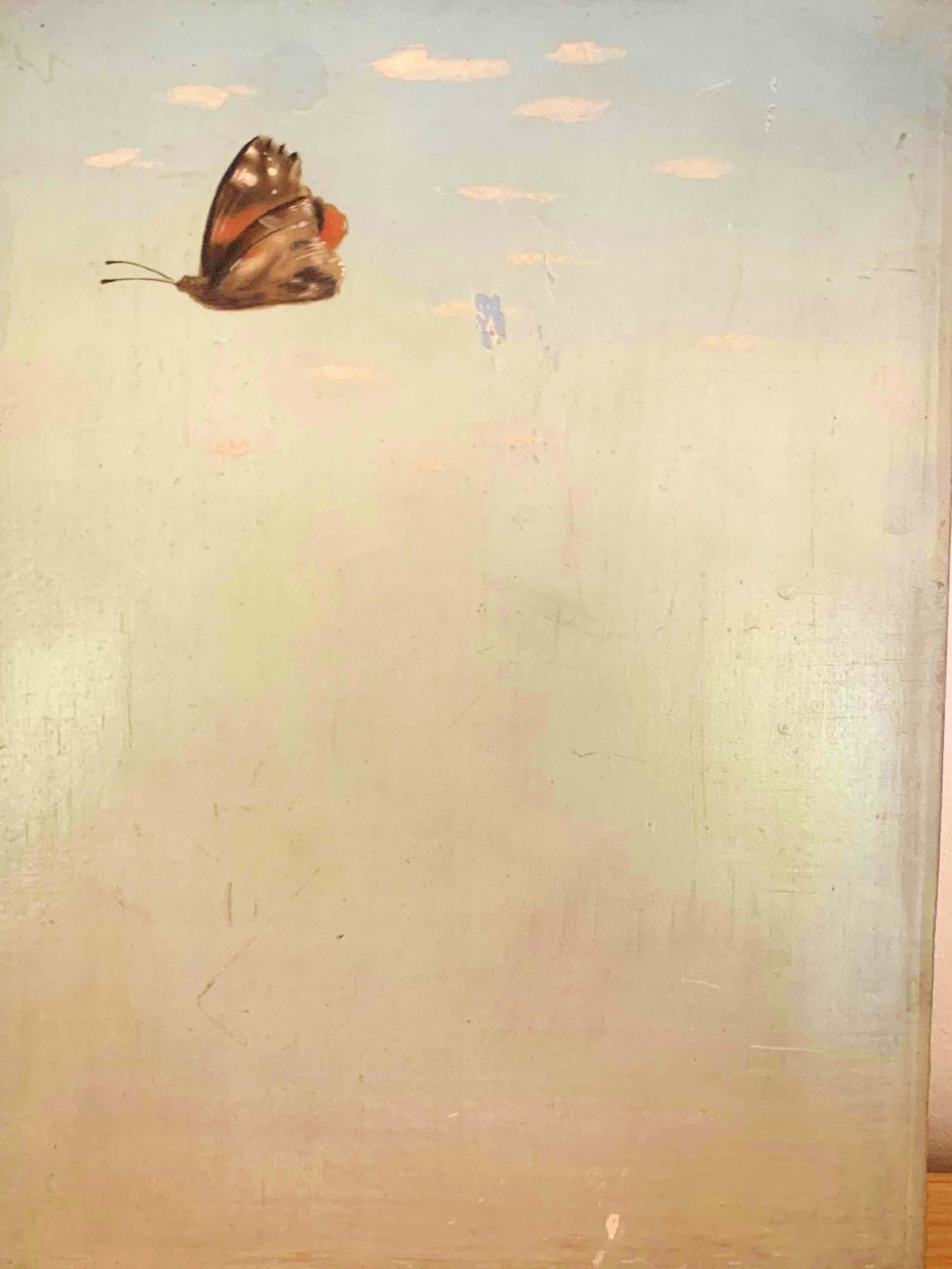 Wout van Heusden - Vlinder - Olieverf op paneel kopen? Bied vanaf 50!
