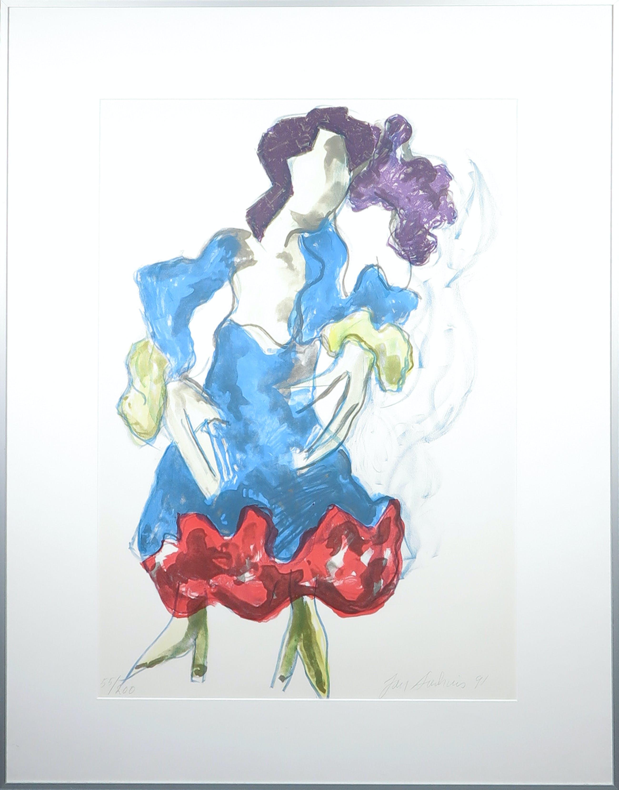Jan Sierhuis - Litho, Flamenco - Ingelijst kopen? Bied vanaf 60!