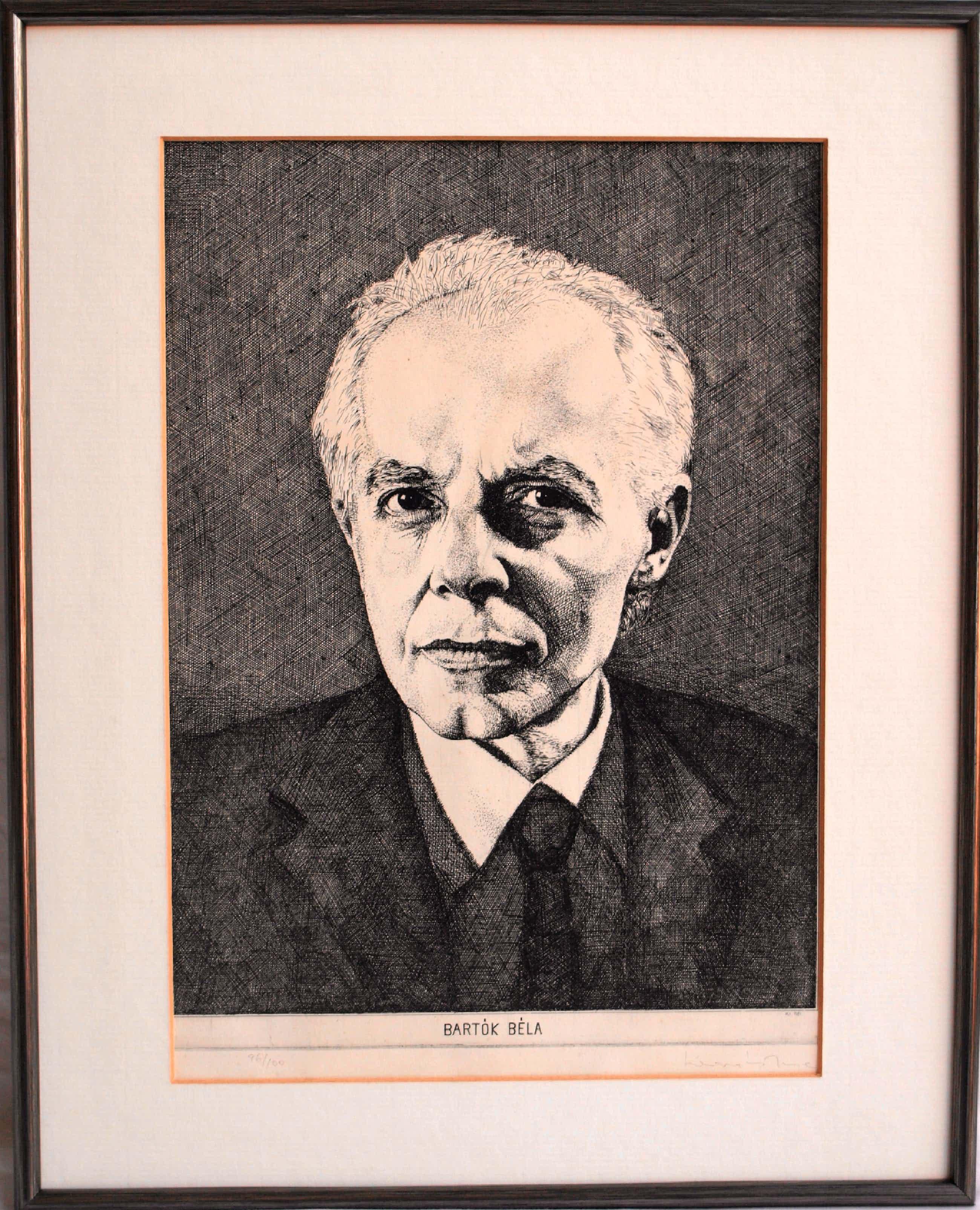 Jozef Kovacs - Ingelijste ets , Béla Bartók – 1981 kopen? Bied vanaf 40!