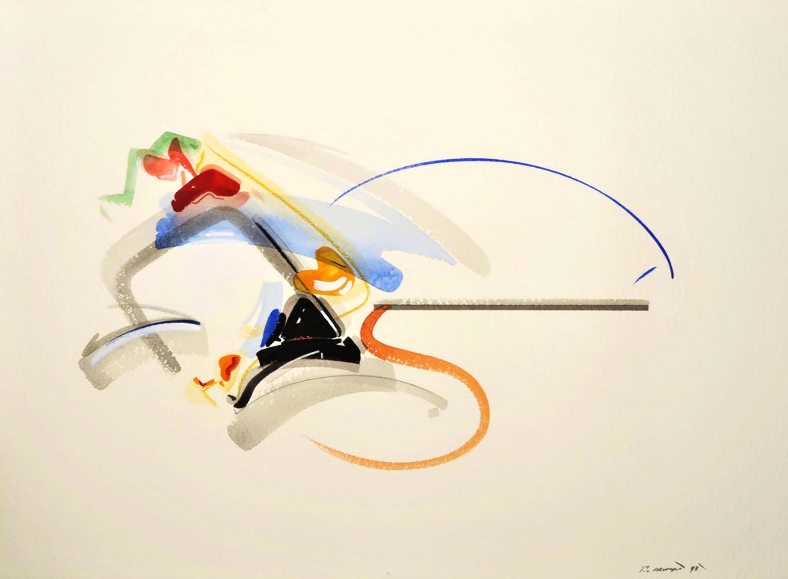 Peter van Drumpt - Abstracte voorstelling kopen? Bied vanaf 50!