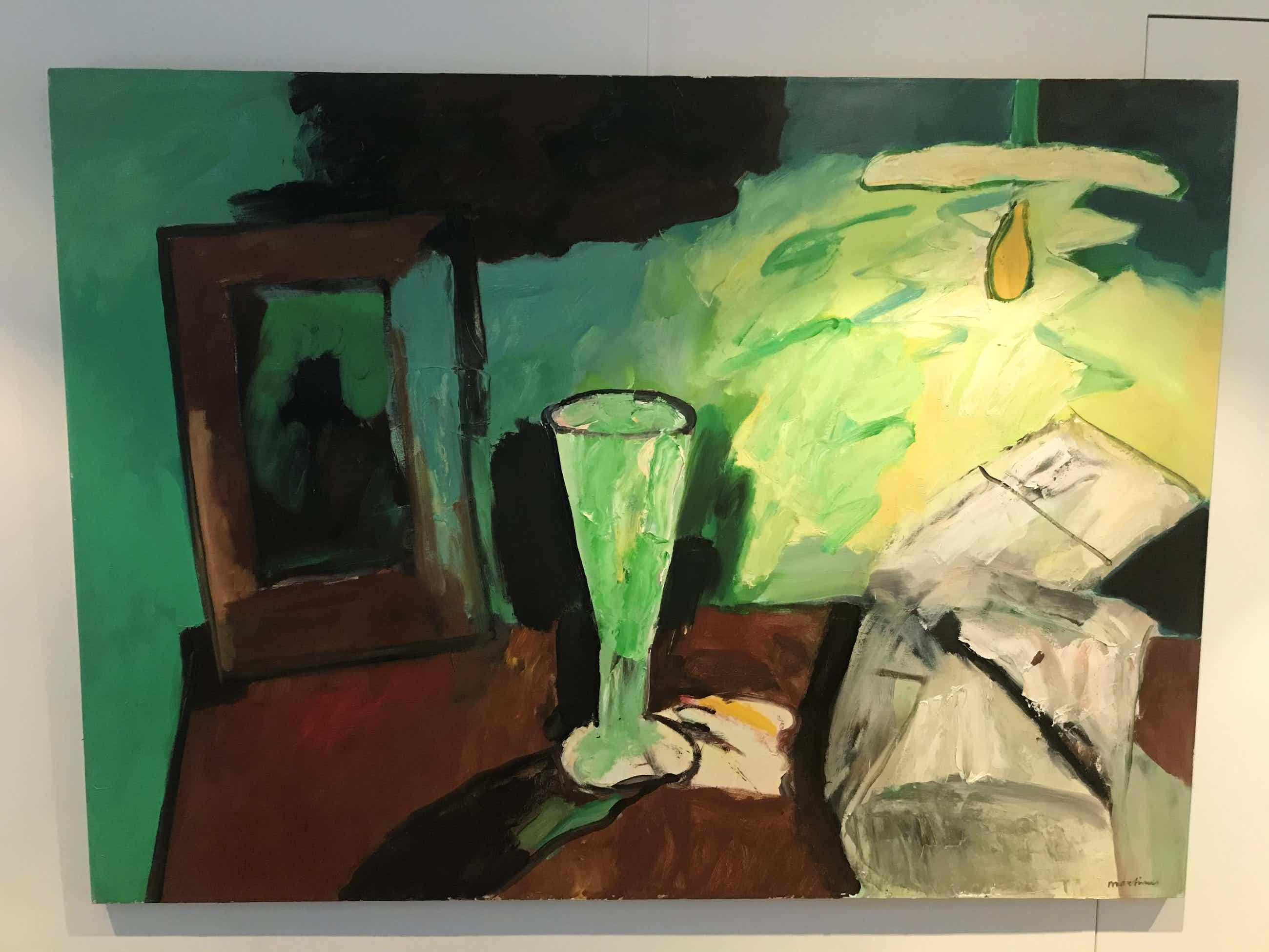 Anton Martineau - Stilleven met groen glas kopen? Bied vanaf 500!