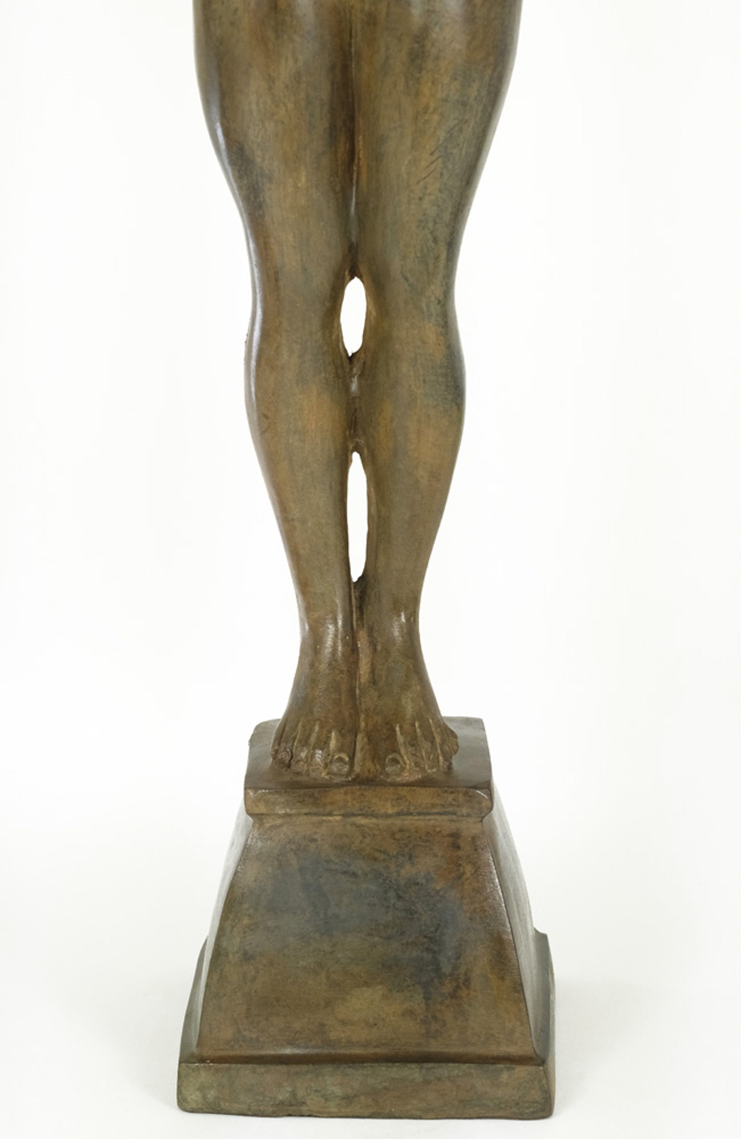 Pierre Chenet - Groot bronzen beeld van gevleugelde engel met boog kopen? Bied vanaf 695!