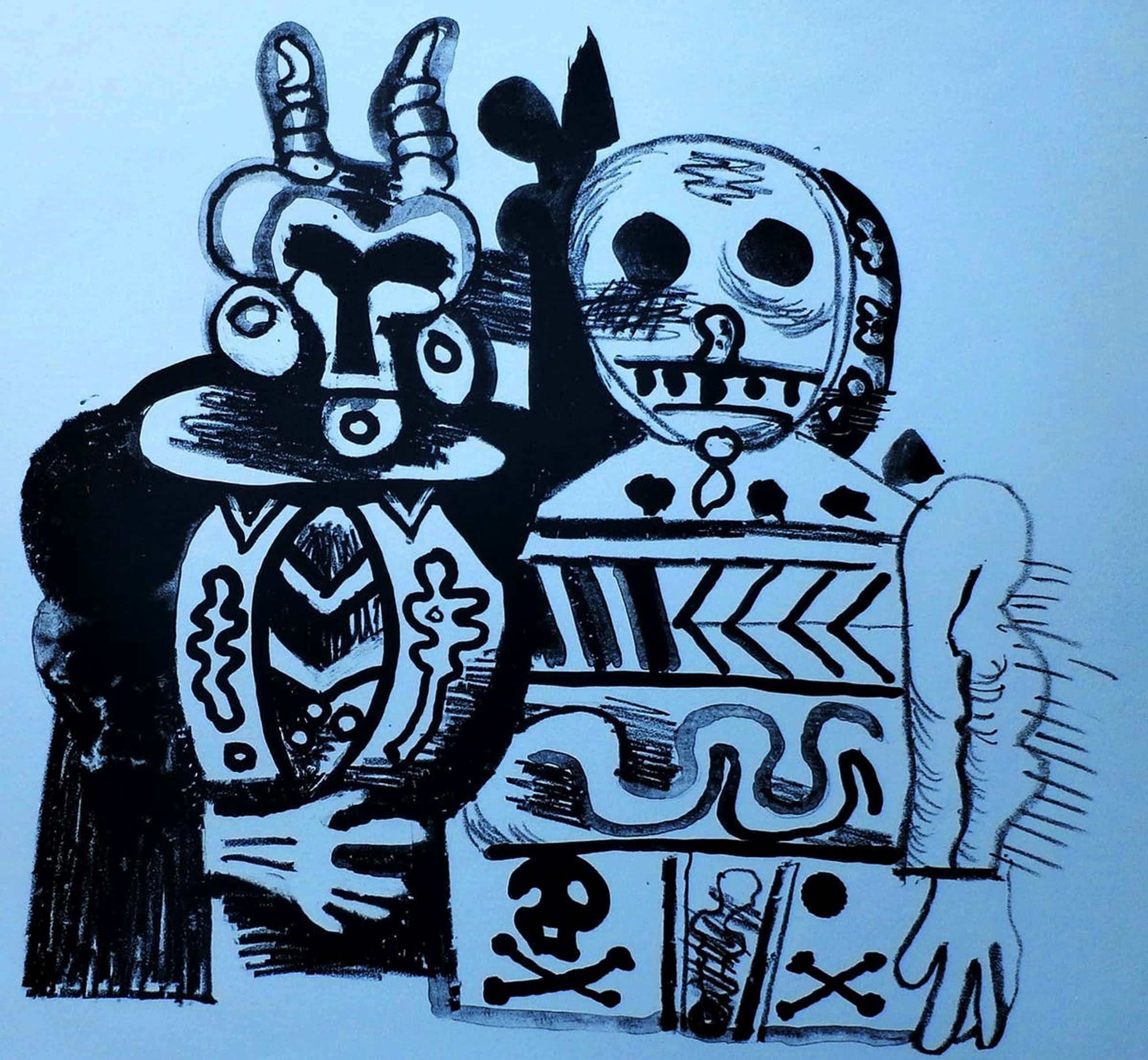 Ed Dukkers - Litho: Carnaval - 1966 kopen? Bied vanaf 40!