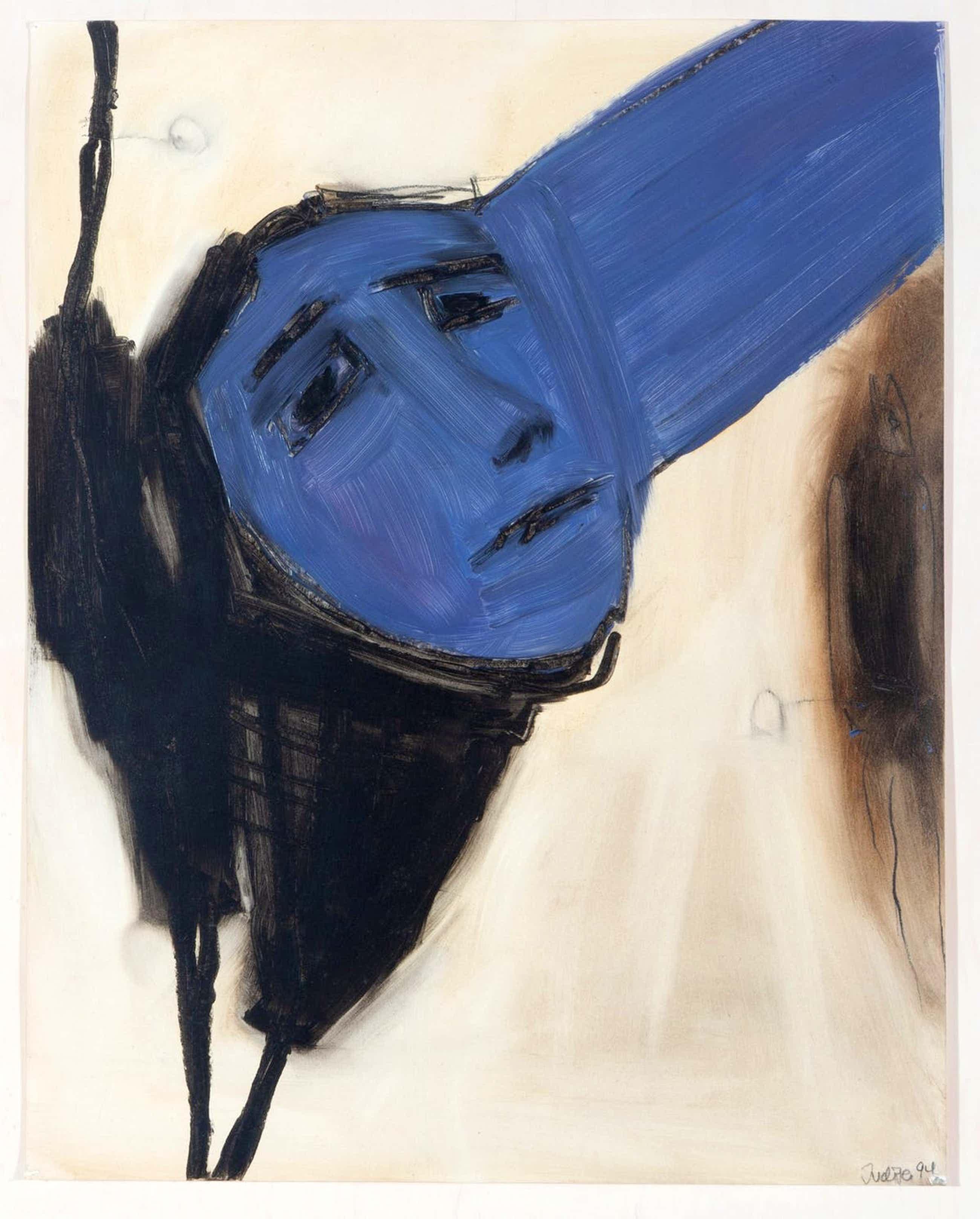 Judith Glaus - olieverf op papier: vrouw - 1994- (mooi ingelijst!) kopen? Bied vanaf 325!