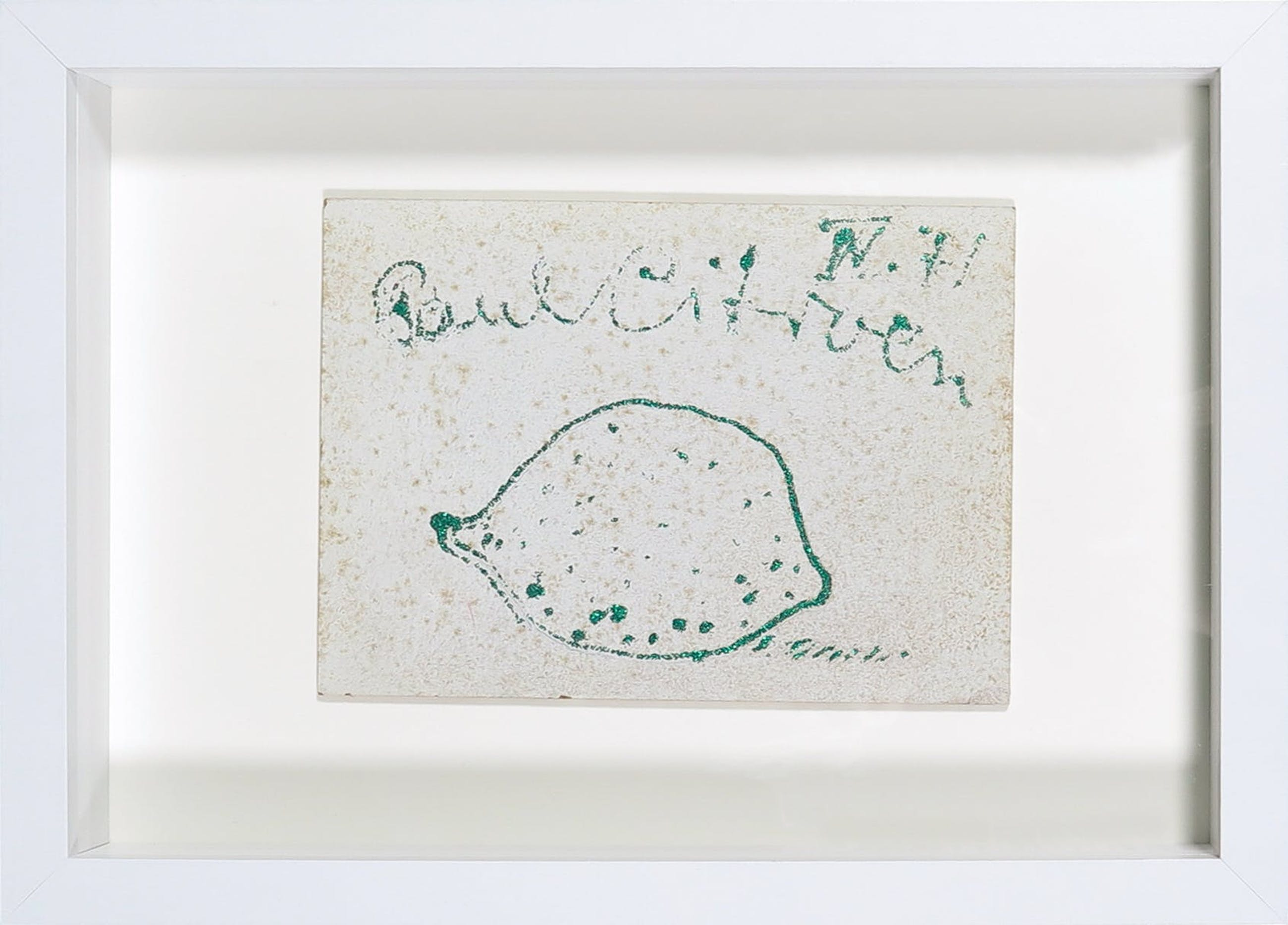 Paul Citroen - Glitterverf op paneel, Kerstgroet kopen? Bied vanaf 1!