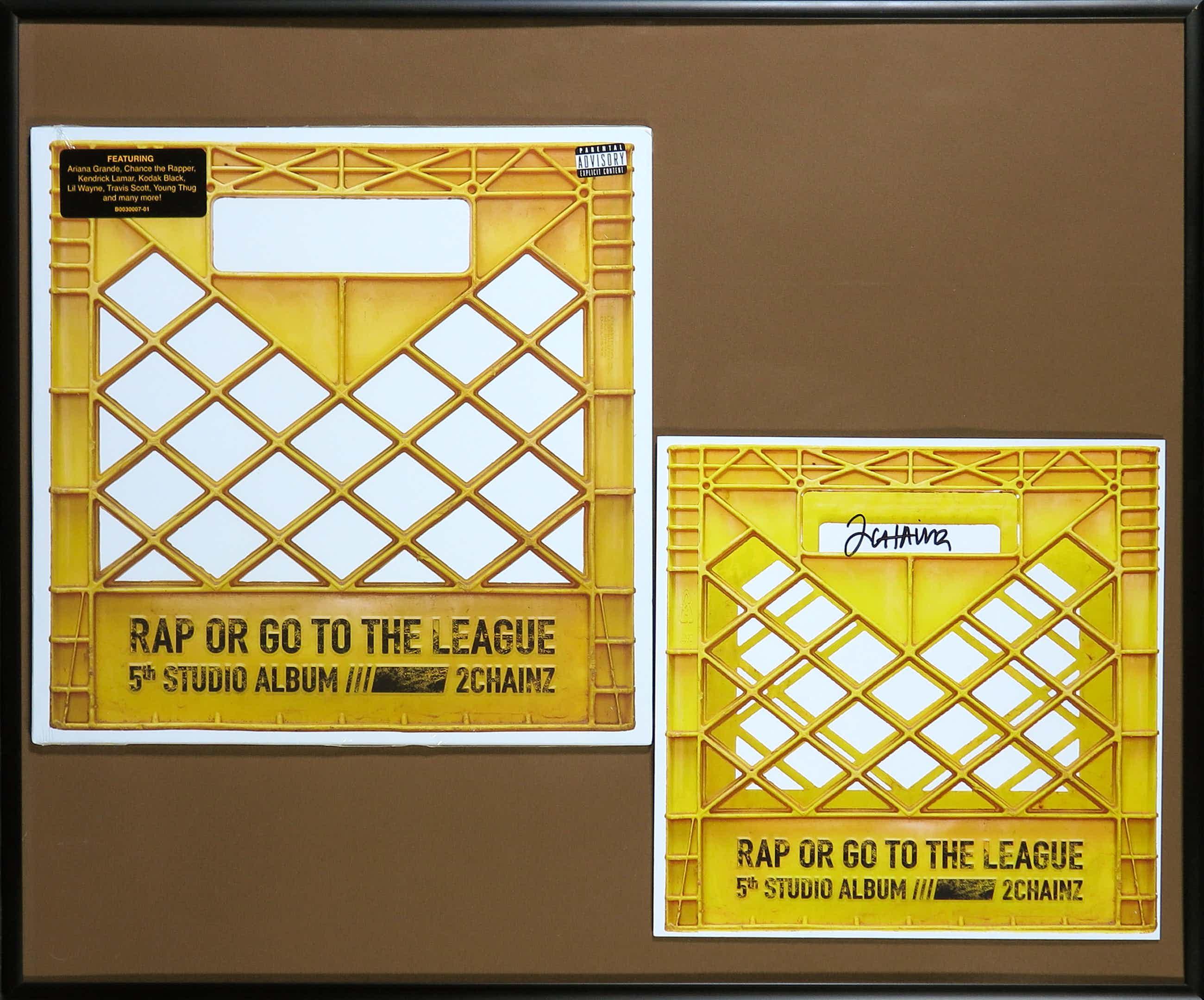 2 Chainz - Album Rap or go to the league met gesigneerde zeefdruk - Ingelijst kopen? Bied vanaf 81!