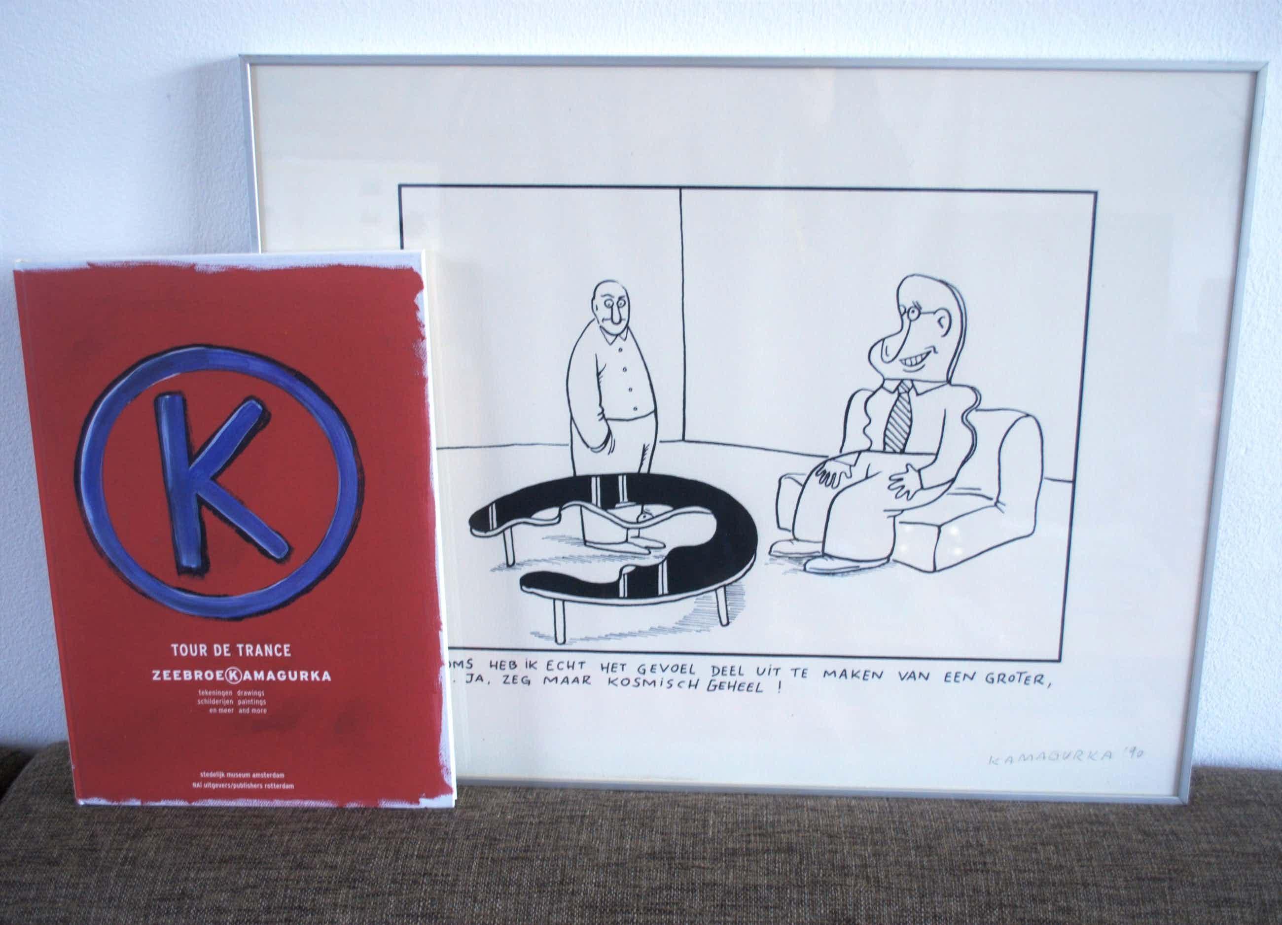 Kamagurka - ...een kosmisch geheel...zeefdruk uit 1990, incl boek uit 2002 kopen? Bied vanaf 100!