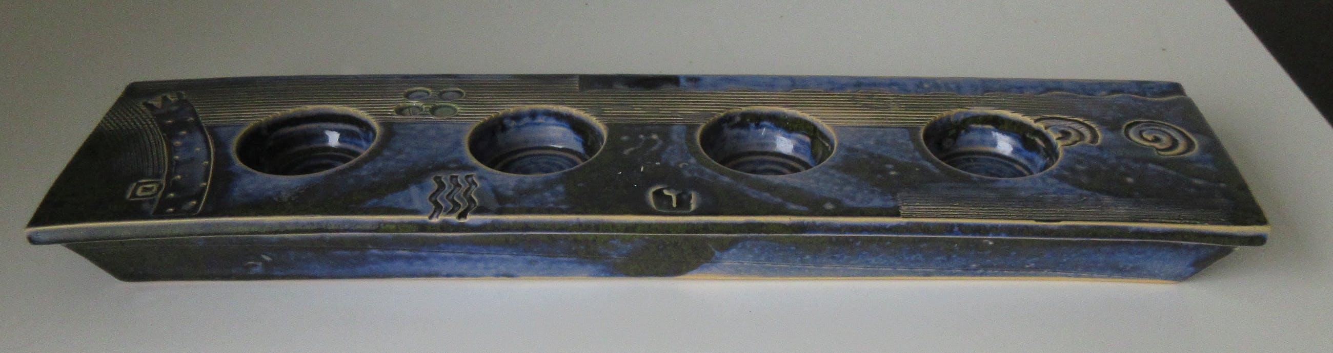 Niet of onleesbaar gesigneerd - Grote Studio keramische waxinelichthouder kopen? Bied vanaf 1!