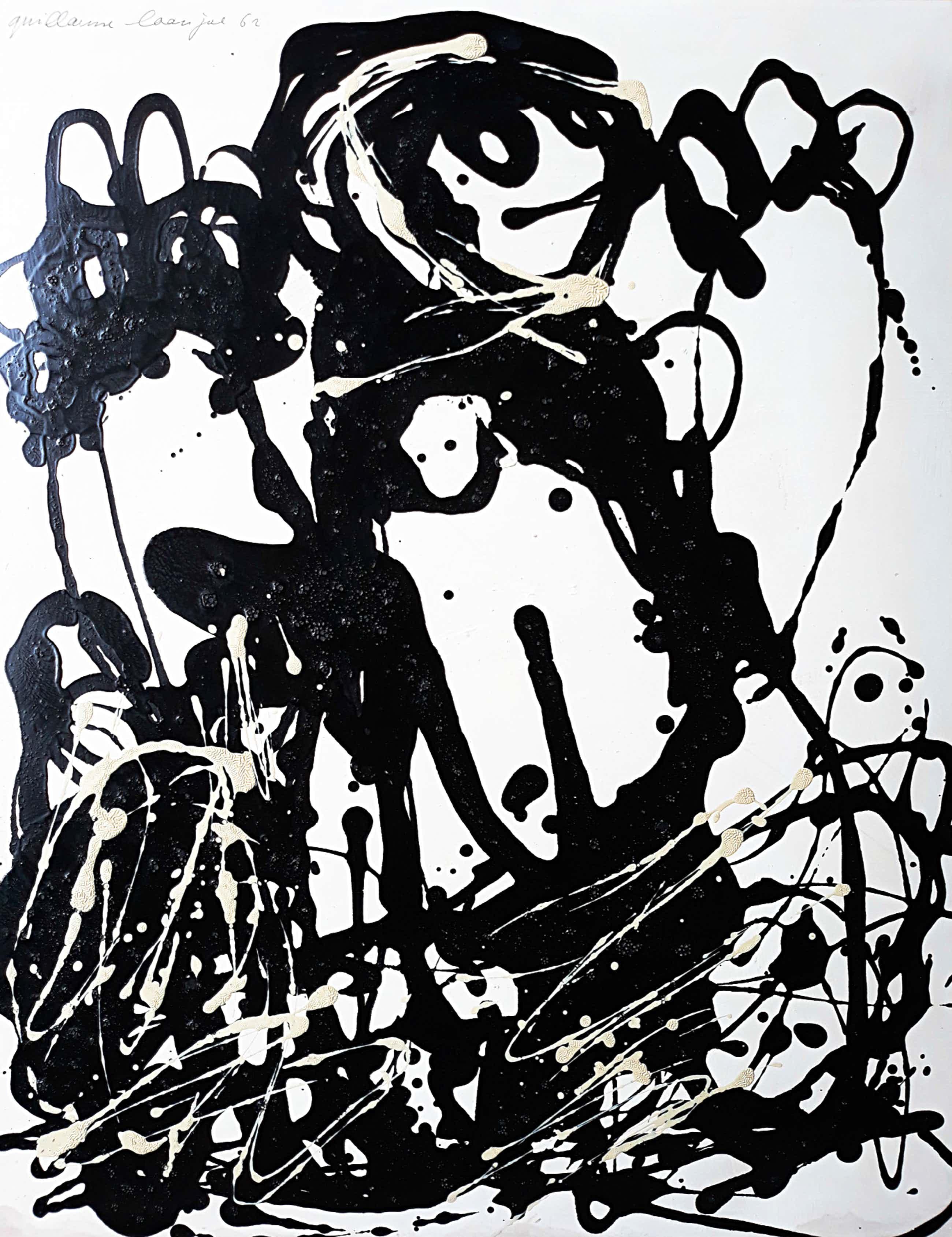 Guillaume Lo-A-Njoe - Figuur, acrylverf op papier kopen? Bied vanaf 180!