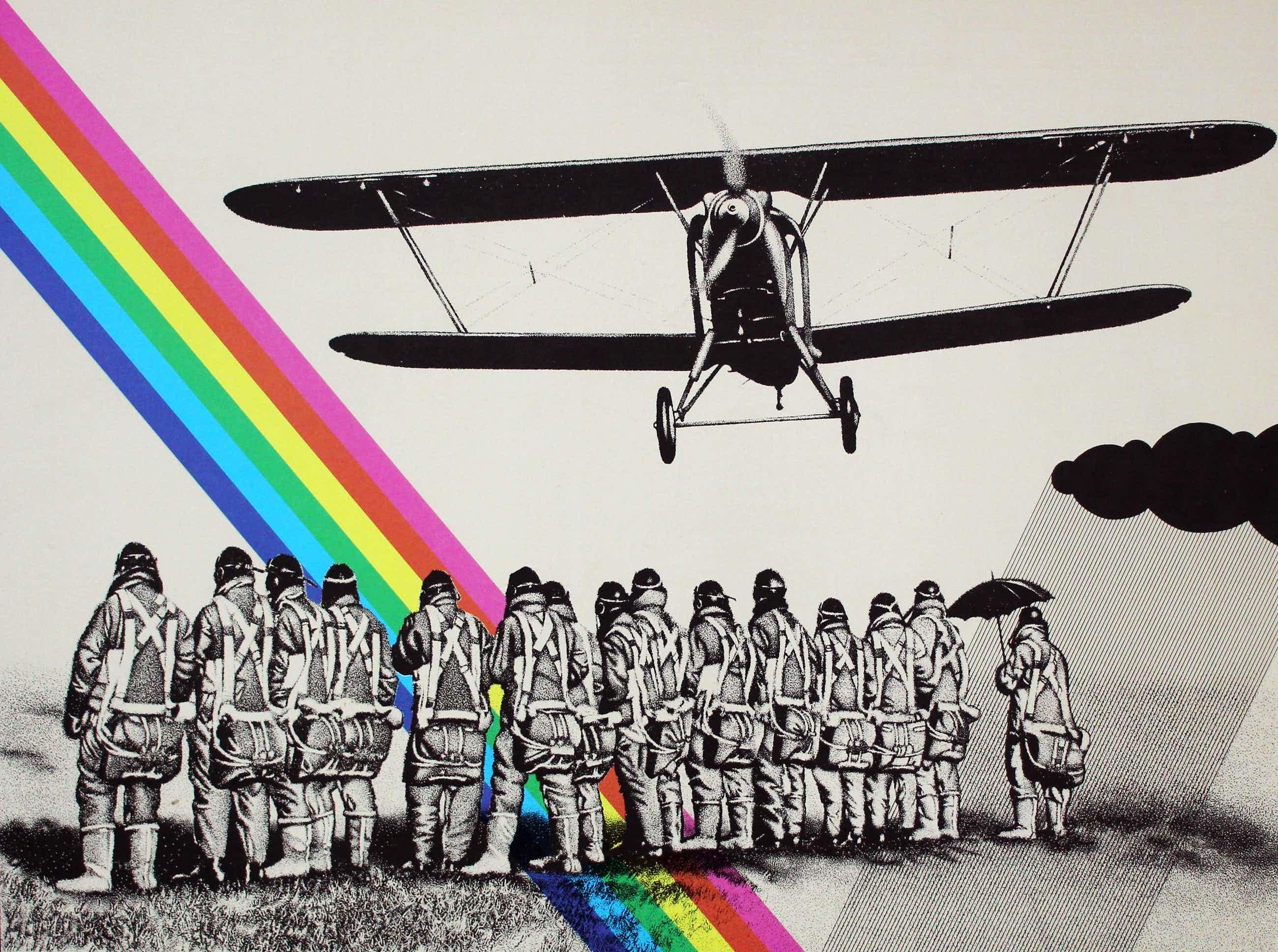 Ger Siks - Zeefdruk: First solo flight Petersborough - 1977 kopen? Bied vanaf 70!