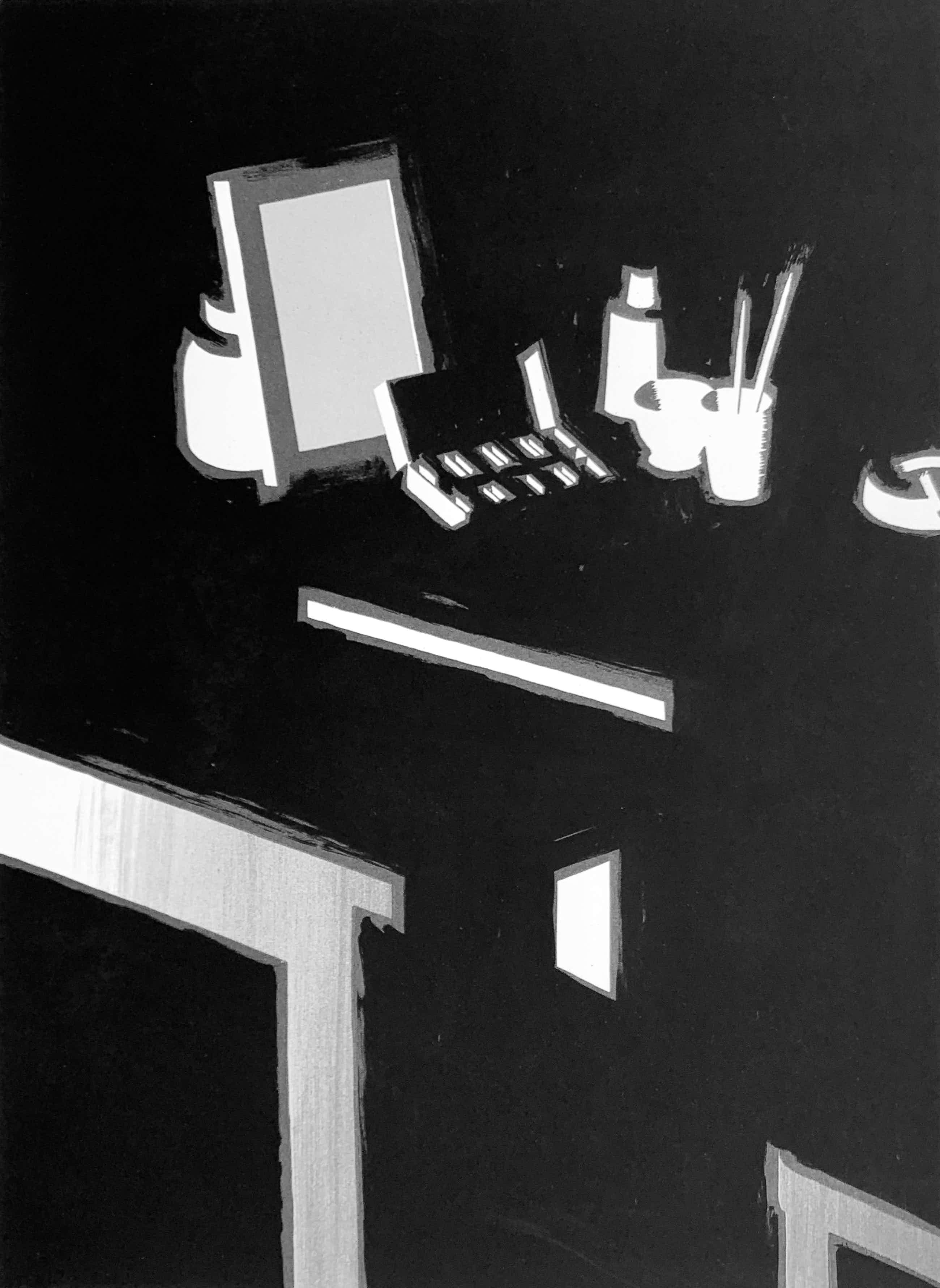Jeroen Henneman - zeefdruk - 'De aquarel' - 1990 kopen? Bied vanaf 225!