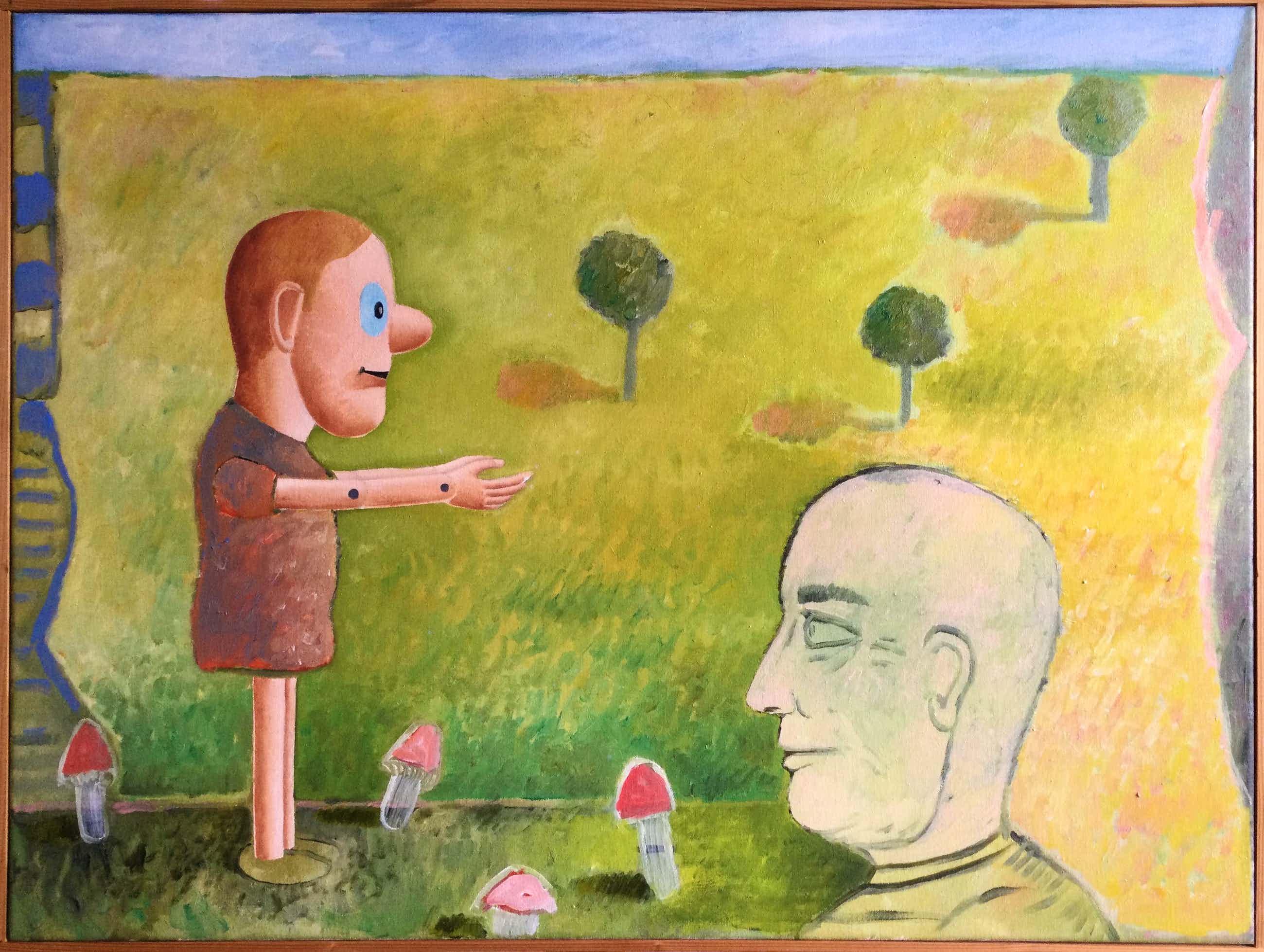 Dirk Bakker - olieverfschilderij   zonder titel kopen? Bied vanaf 56!