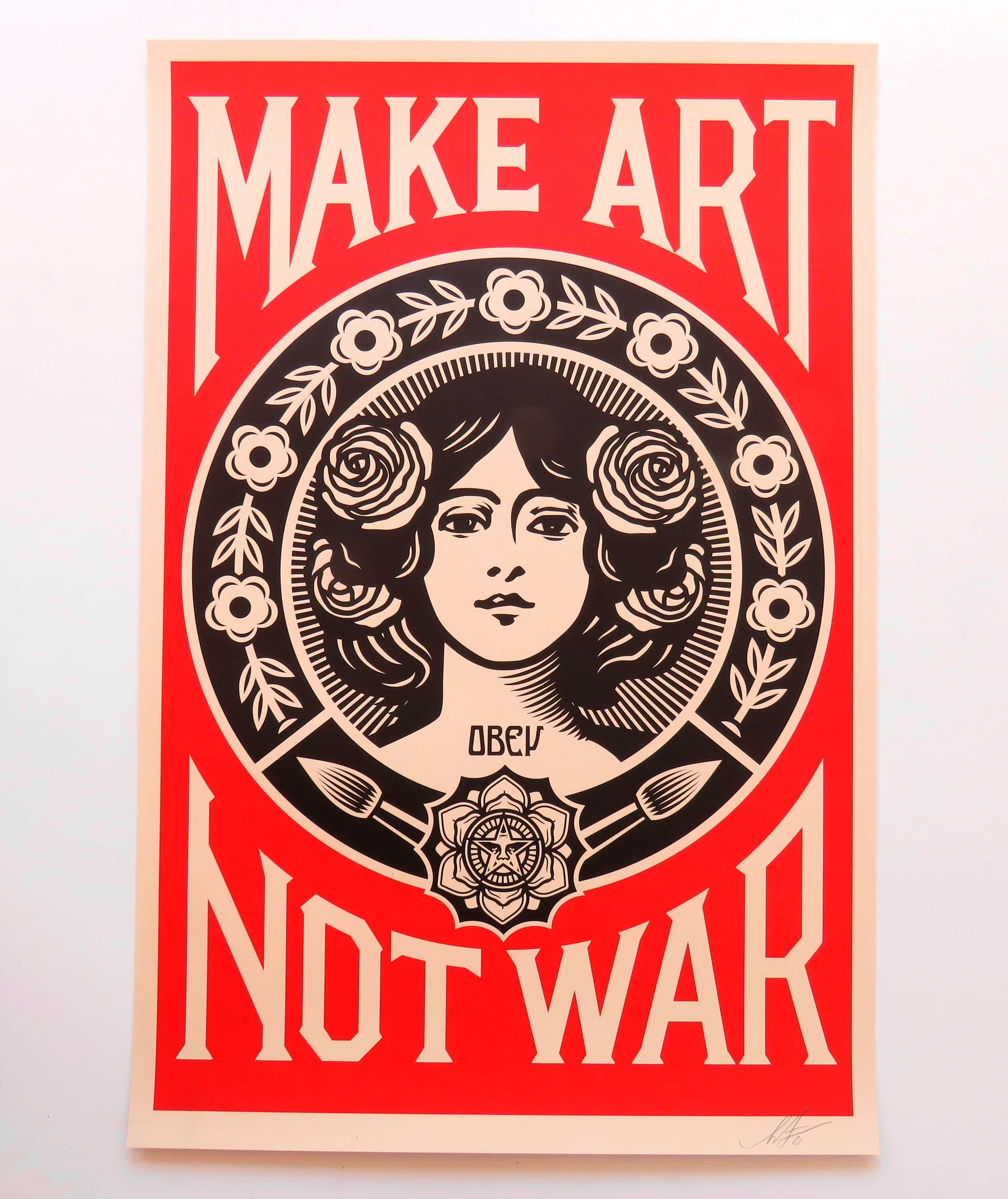 Shepard Fairey - Make Art, Not War kopen? Bied vanaf 70!