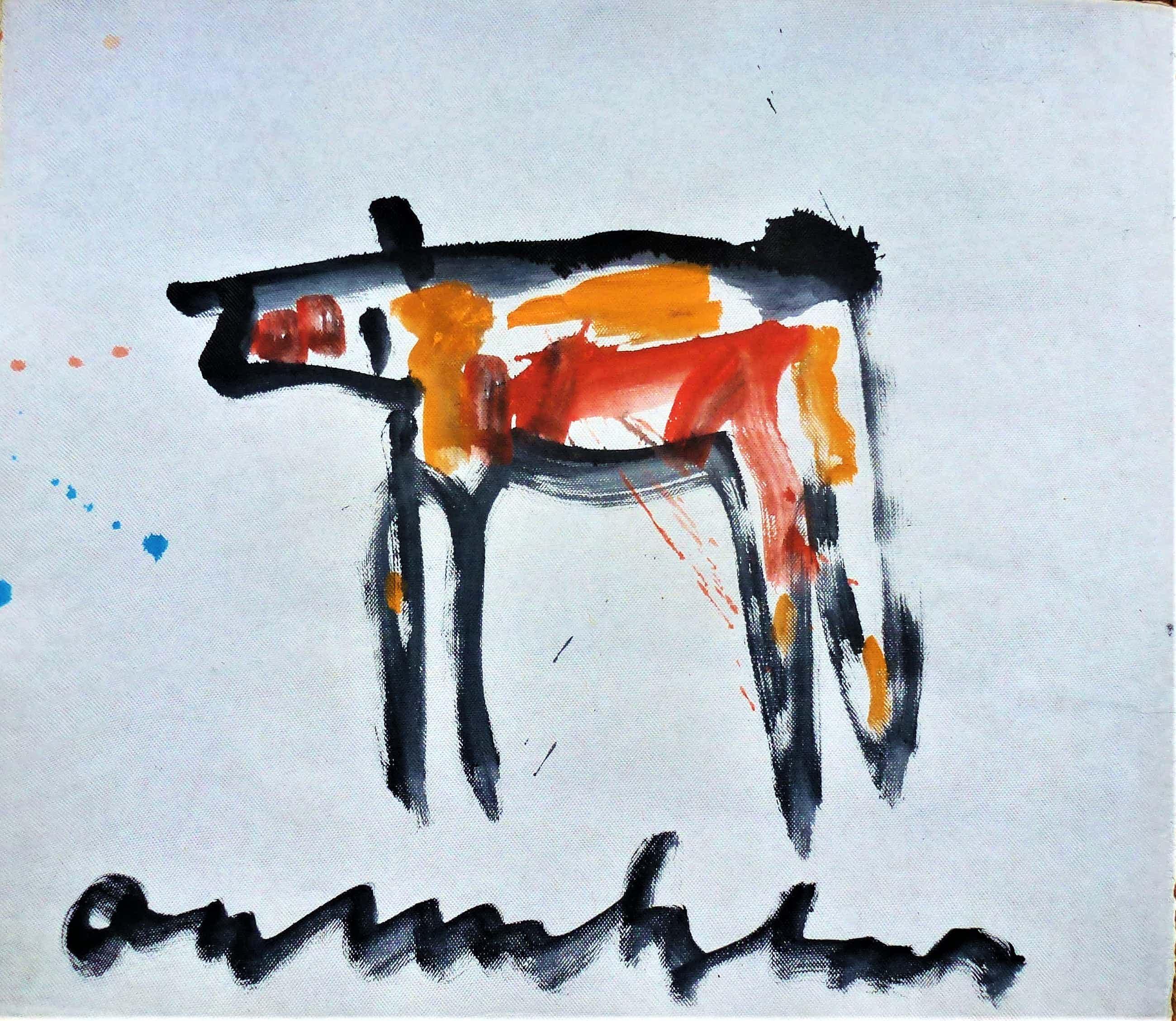 Anton Heyboer - Het dier Krachtige schildering . kopen? Bied vanaf 275!