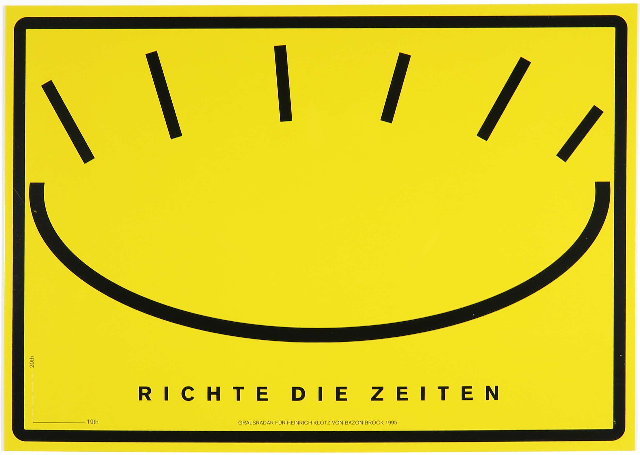 Bazon Brock - Richte die Zeiten, 1995 kopen? Bied vanaf 100!