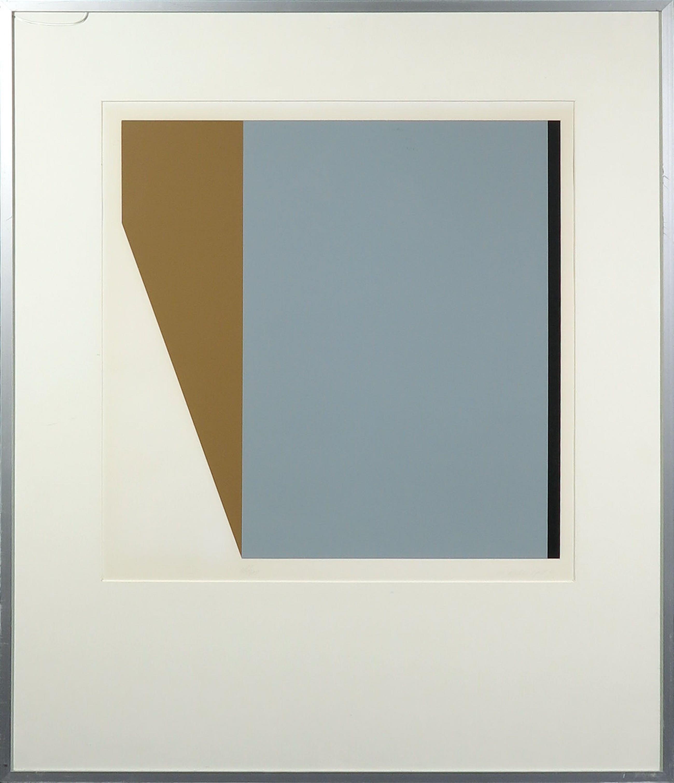 John de Rijke - Zeefdruk, Geometrisch abstract - Ingelijst kopen? Bied vanaf 10!