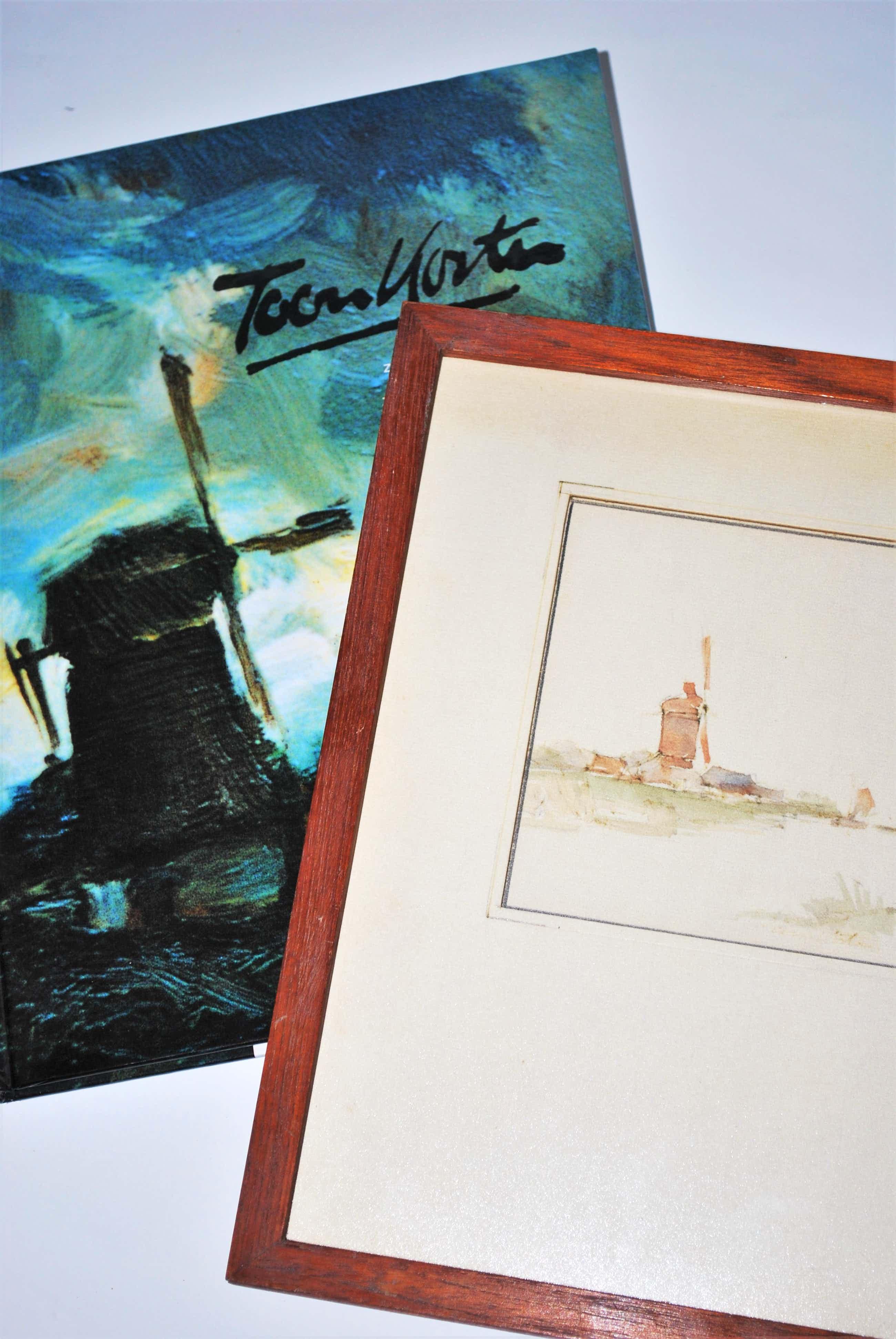Toon Koster - aquarel .Molen langs vaart. van kunsthandel Roelofs - incl kunstboek werk&leven kopen? Bied vanaf 50!