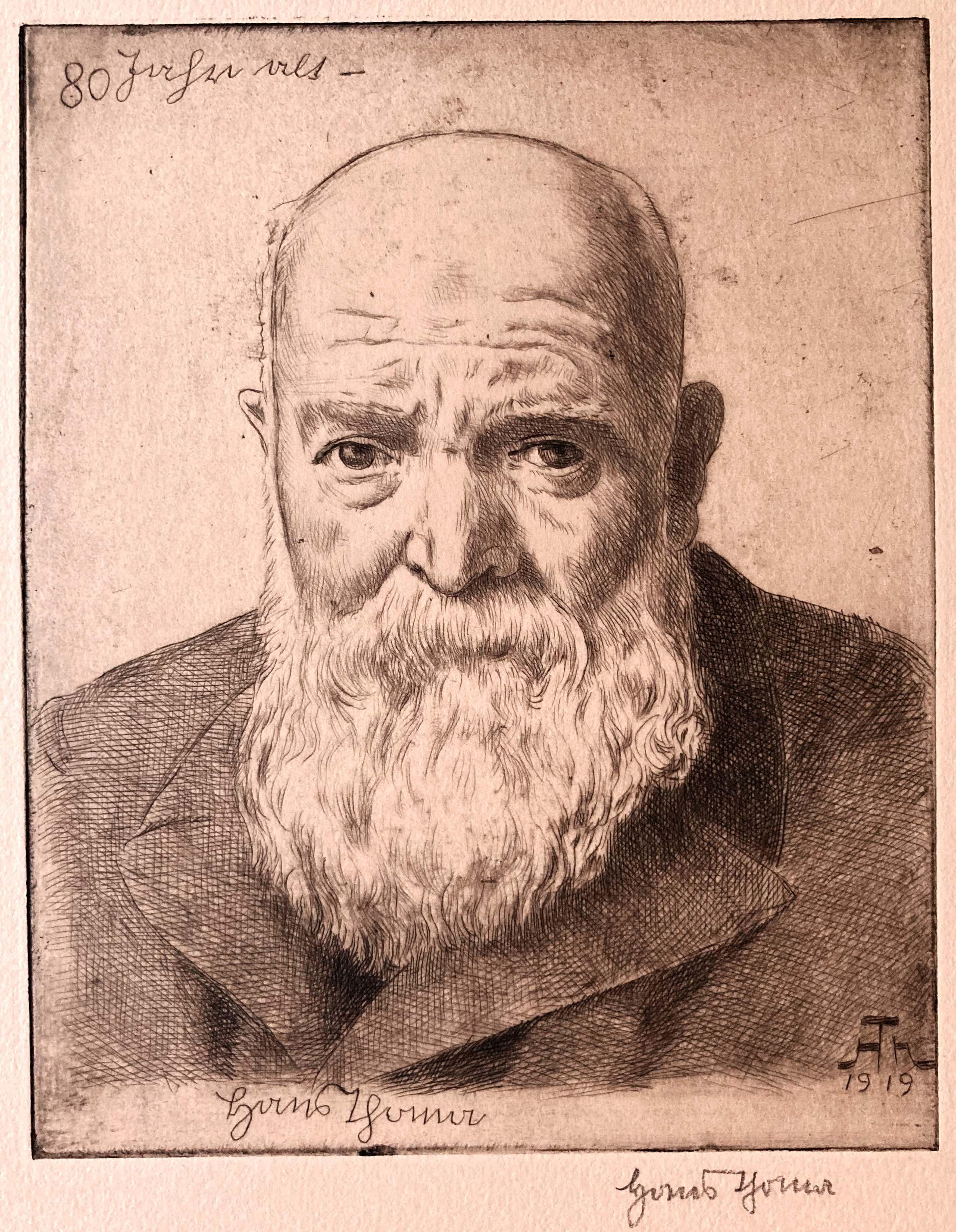 Hans Thoma - Selbstportrait - 80 Jahre alt kopen? Bied vanaf 115!