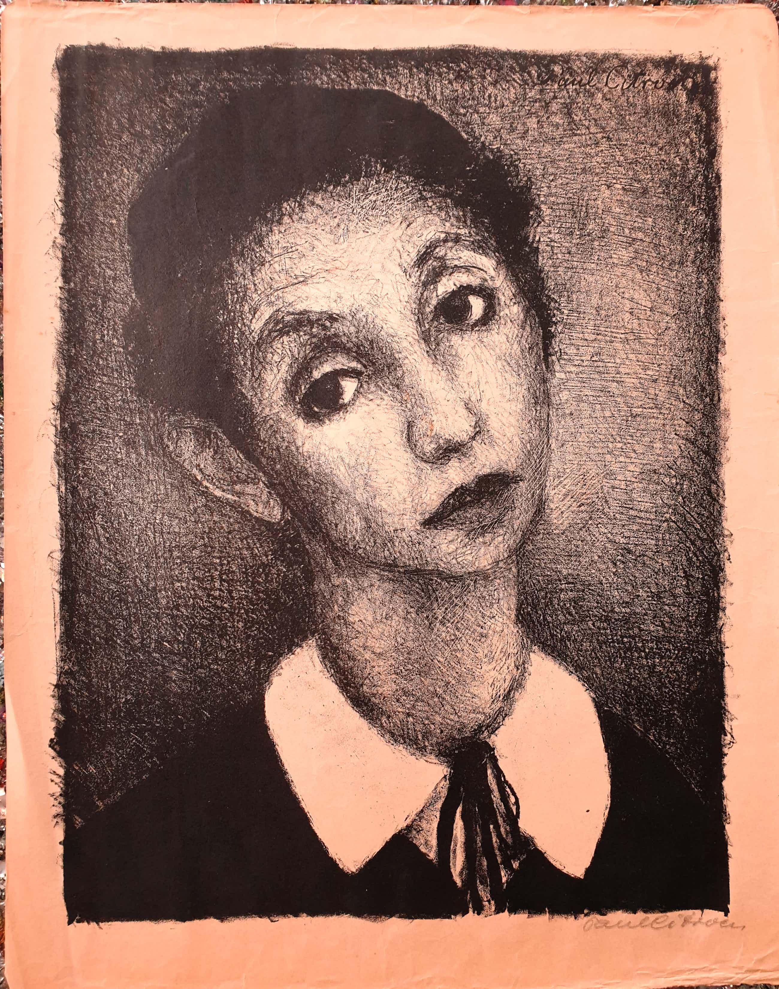 Paul Citroen - Portret - Gesigneerd - Litho kopen? Bied vanaf 45!