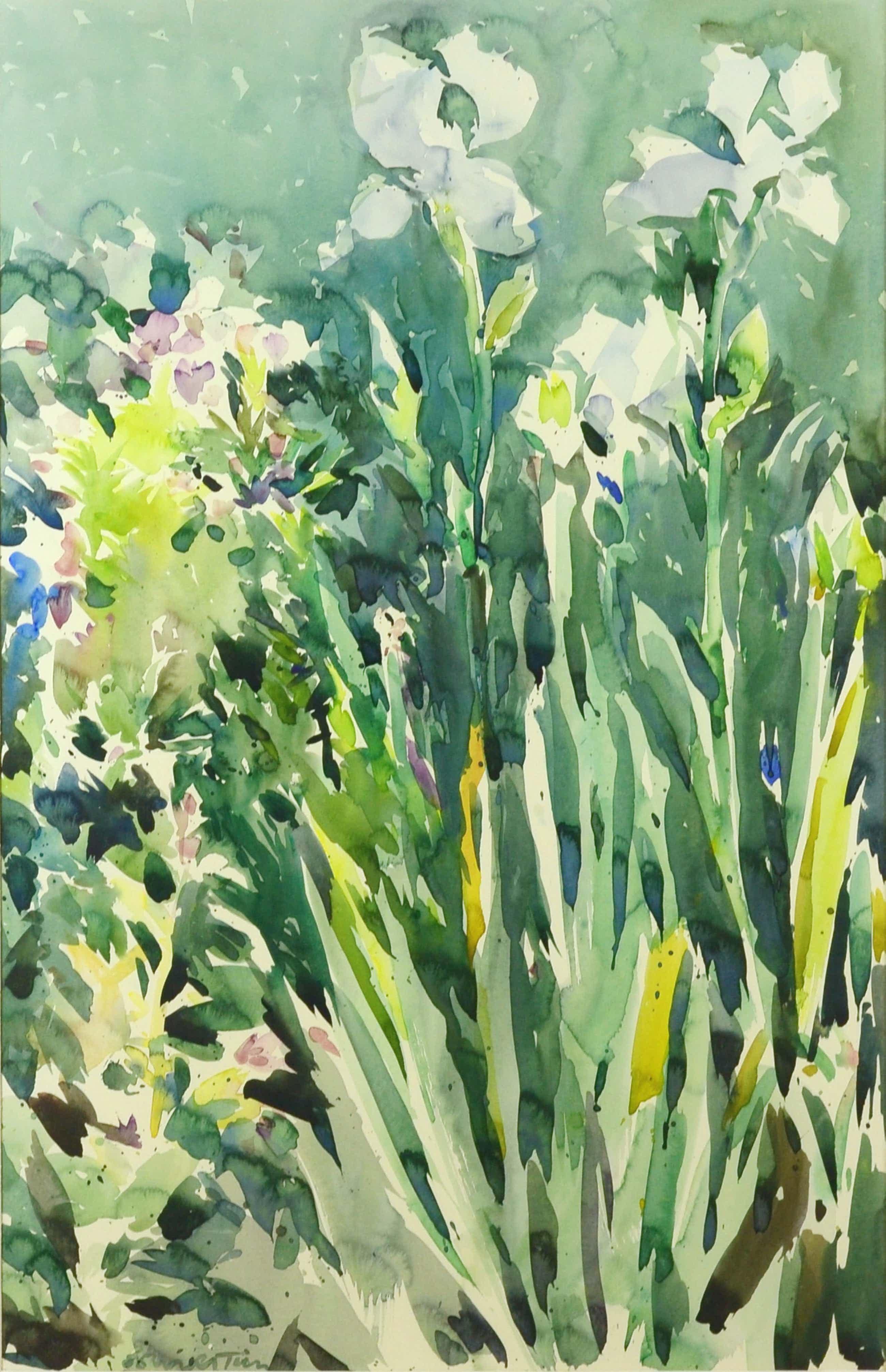 Henk Westein - Kleurrijke, zeer grote aquarel kopen? Bied vanaf 95!