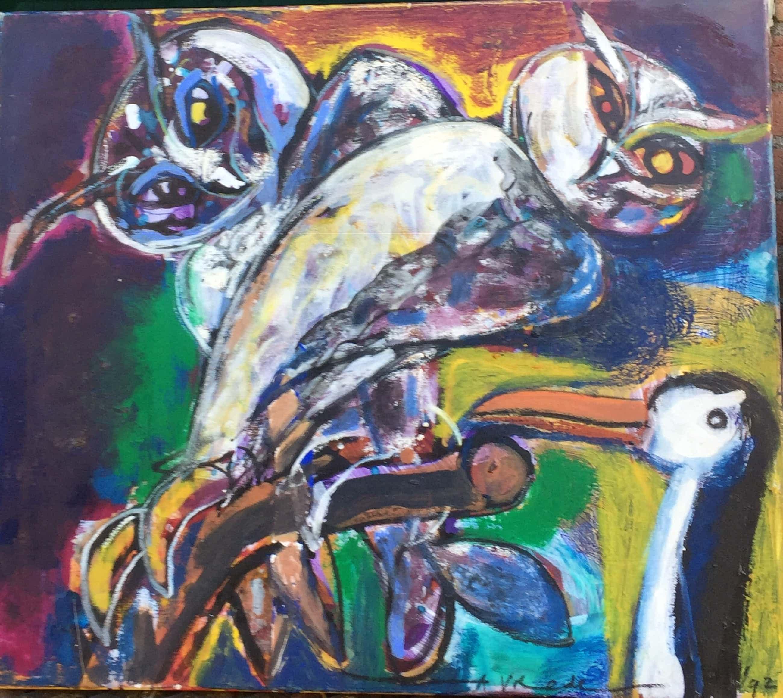 Anton Vrede - Two Owls and a penguin kopen? Bied vanaf 240!
