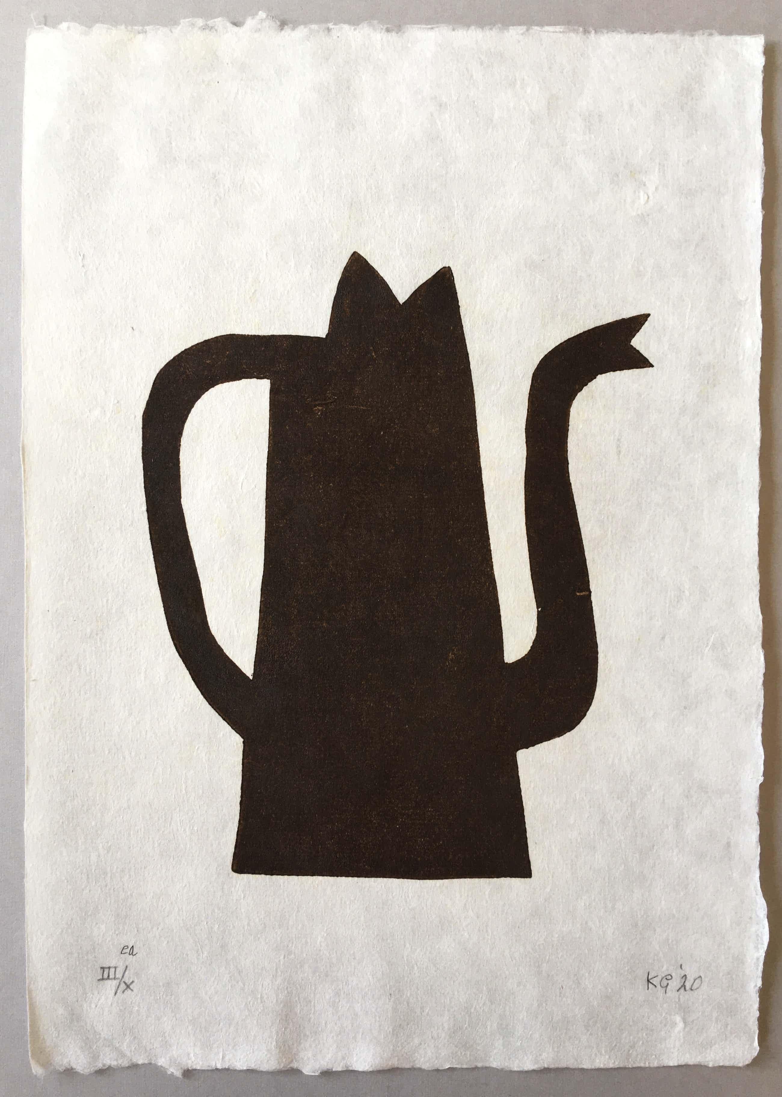Klaas Gubbels - houtdruk op geschept papier - 'Napels' - 2020 kopen? Bied vanaf 390!