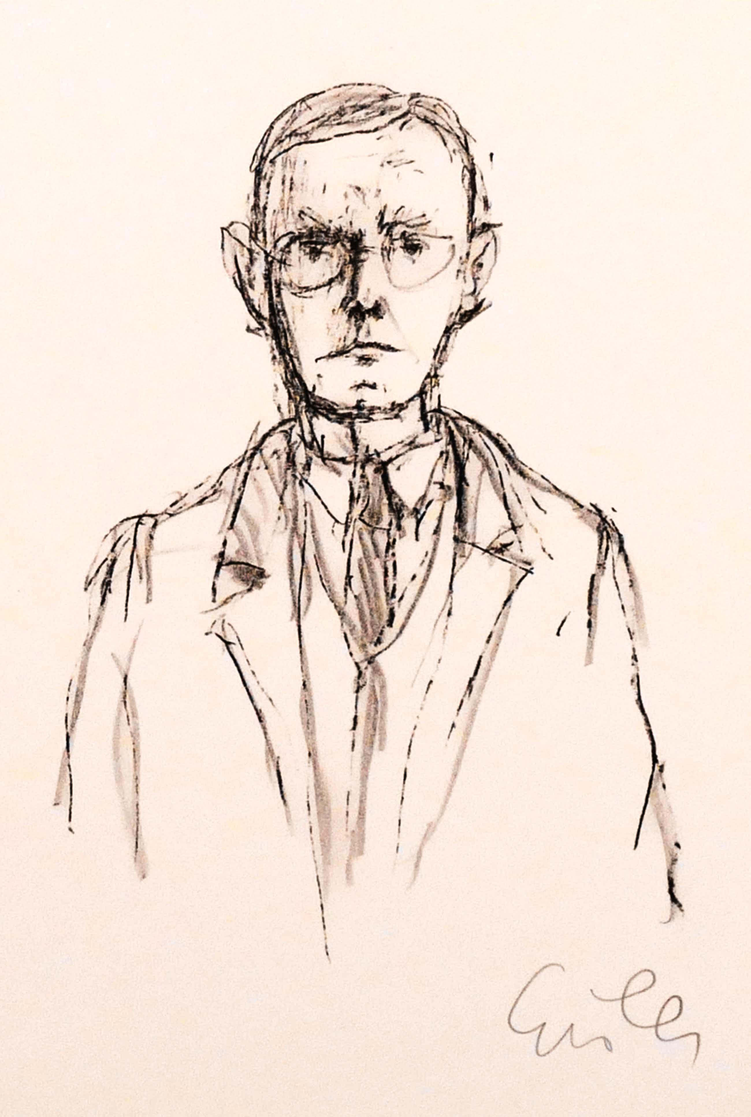 Georg Eisler - Portrait Hermann Hesse, Lithografie auf Bütten, handsigniert, Probeabzug kopen? Bied vanaf 110!