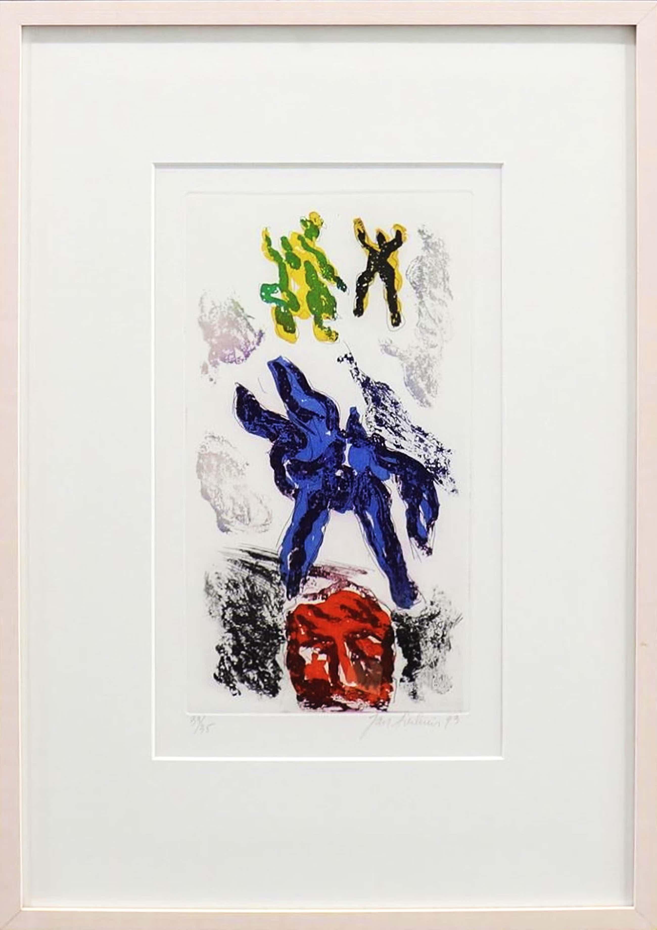 Jan Sierhuis - kleurenets - 1993 - oplage 35 - ingelijst kopen? Bied vanaf 125!