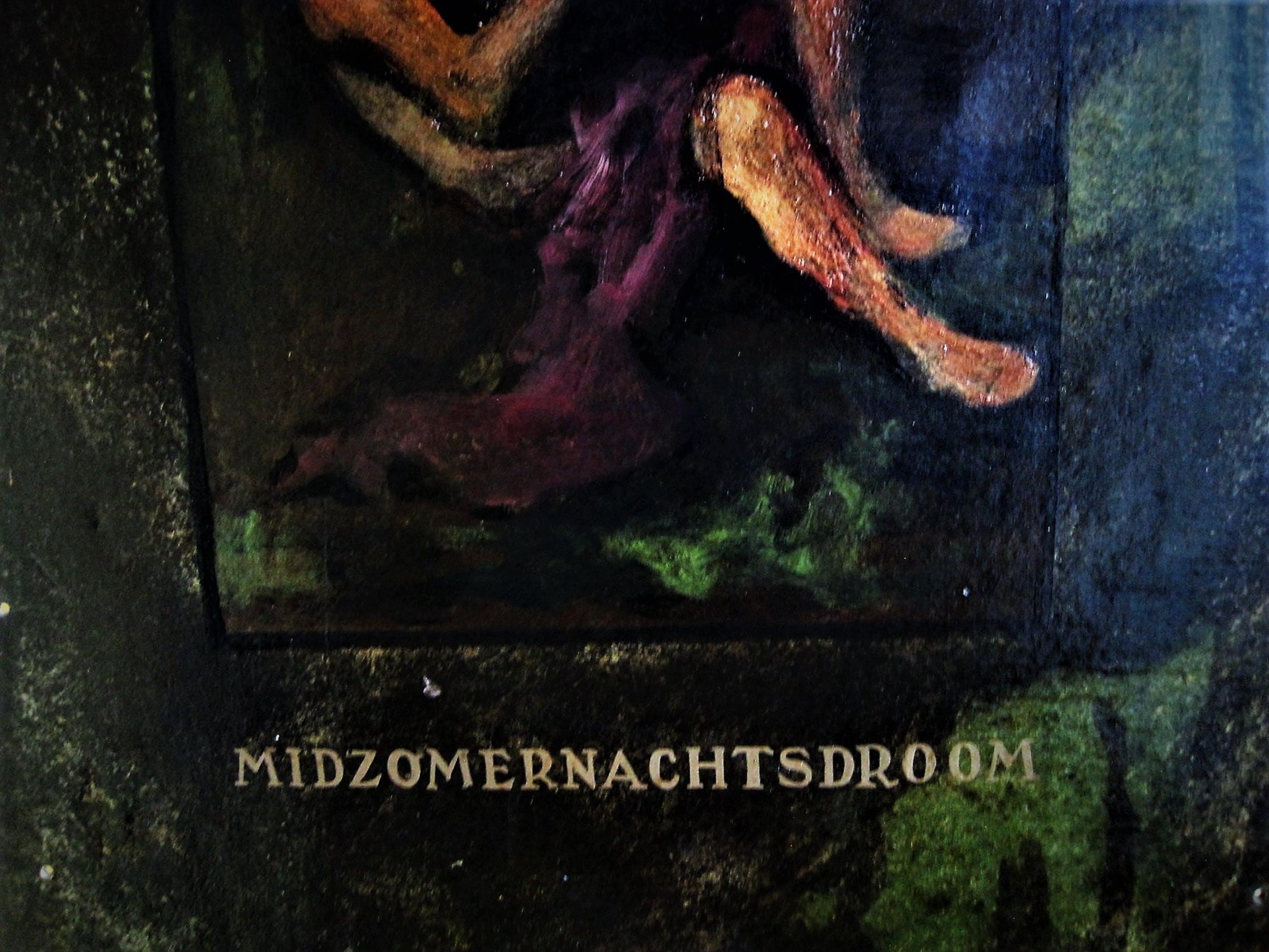 """Niet of onleesbaar gesigneerd - Indrukwekkend groot impressionistisch Olieverf op metaal """"Midzomernachtsdroom"""" kopen? Bied vanaf 10!"""