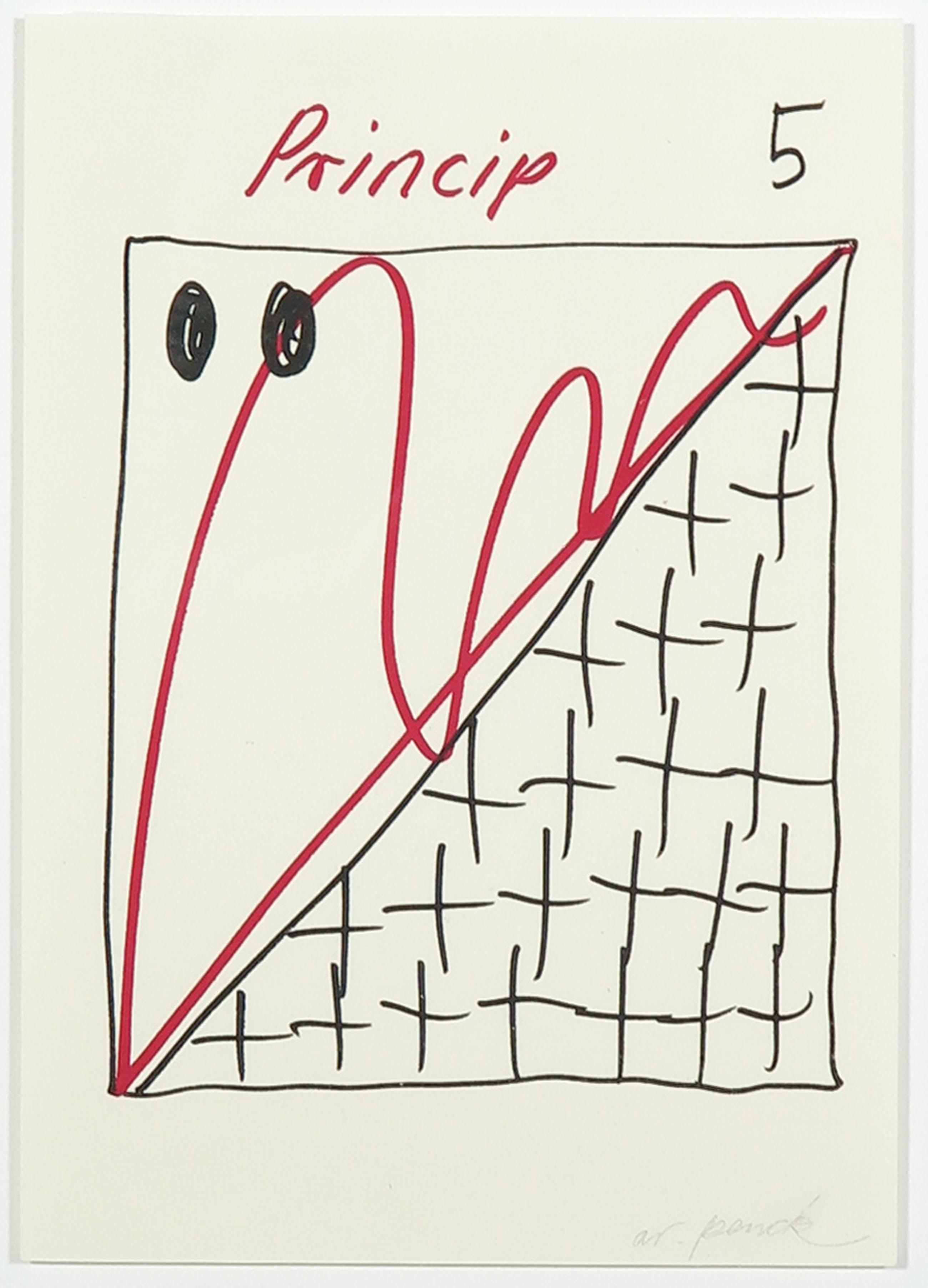 A.R. Penck - Zeldzame litho, Princip 5 kopen? Bied vanaf 1!