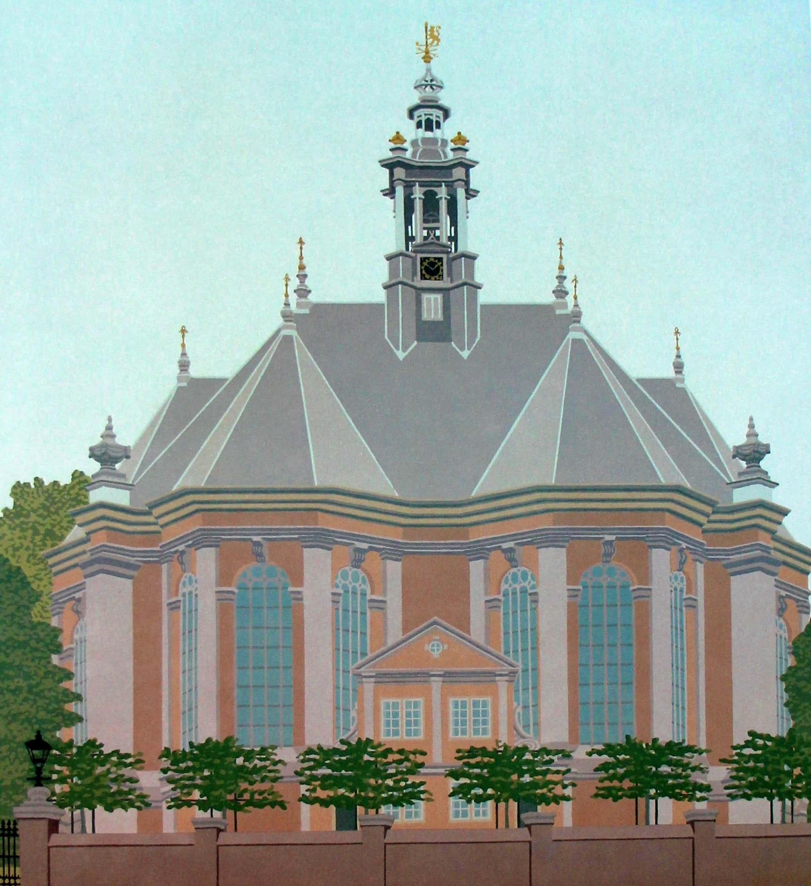 Sees Vlag - Zeefdruk: 's Gravenhage Nieuwe Kerk- 1986 kopen? Bied vanaf 125!