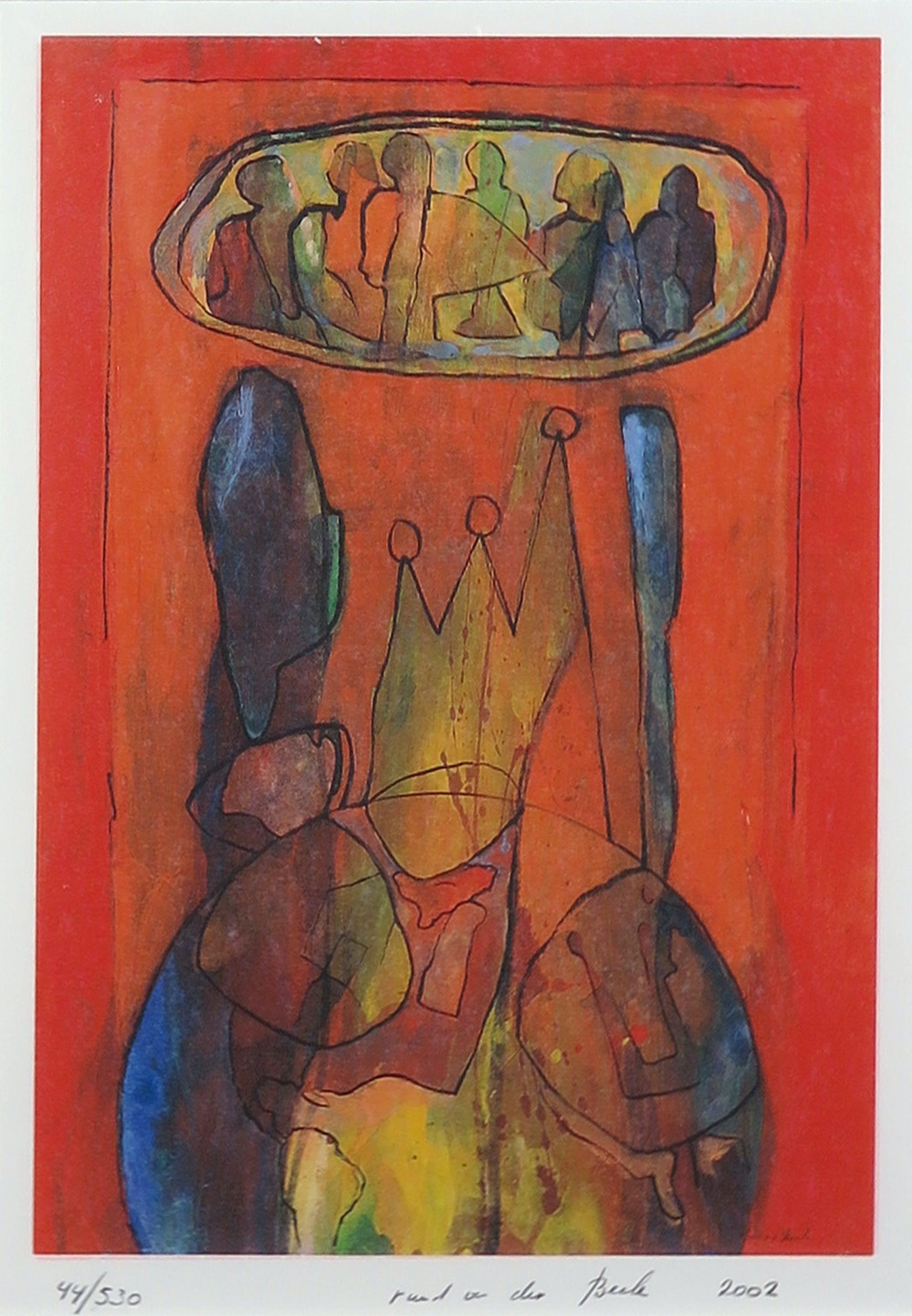 Ruud van der Beele - Zeefdruk, z.t. Abstract 2 - Ingelijst kopen? Bied vanaf 35!