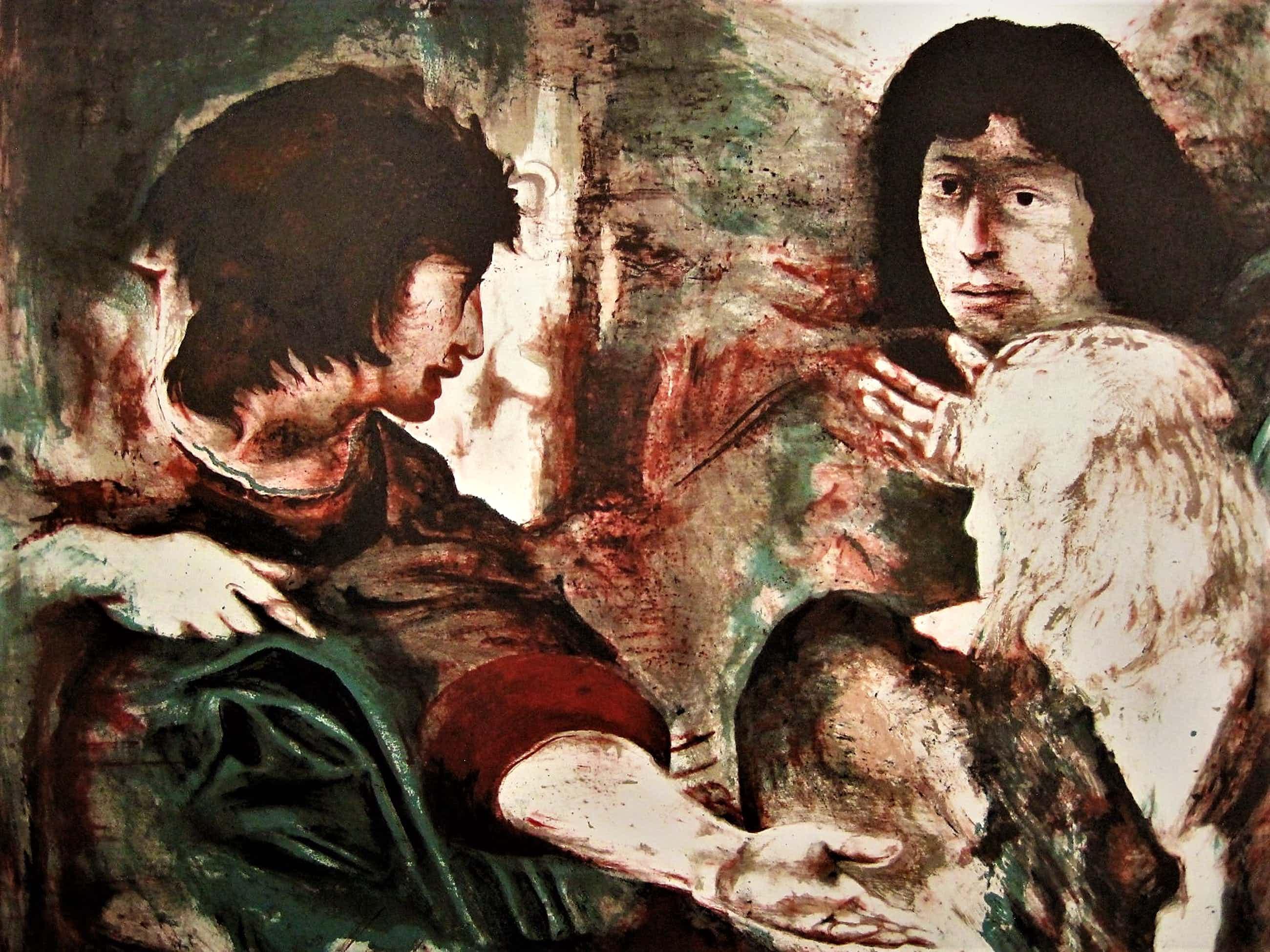 """Gerti Bierenbroodspot - Monumentaal grote Lithografie (37/125) """"Archangel"""" gesigneerd - NIET ingelijst! kopen? Bied vanaf 70!"""