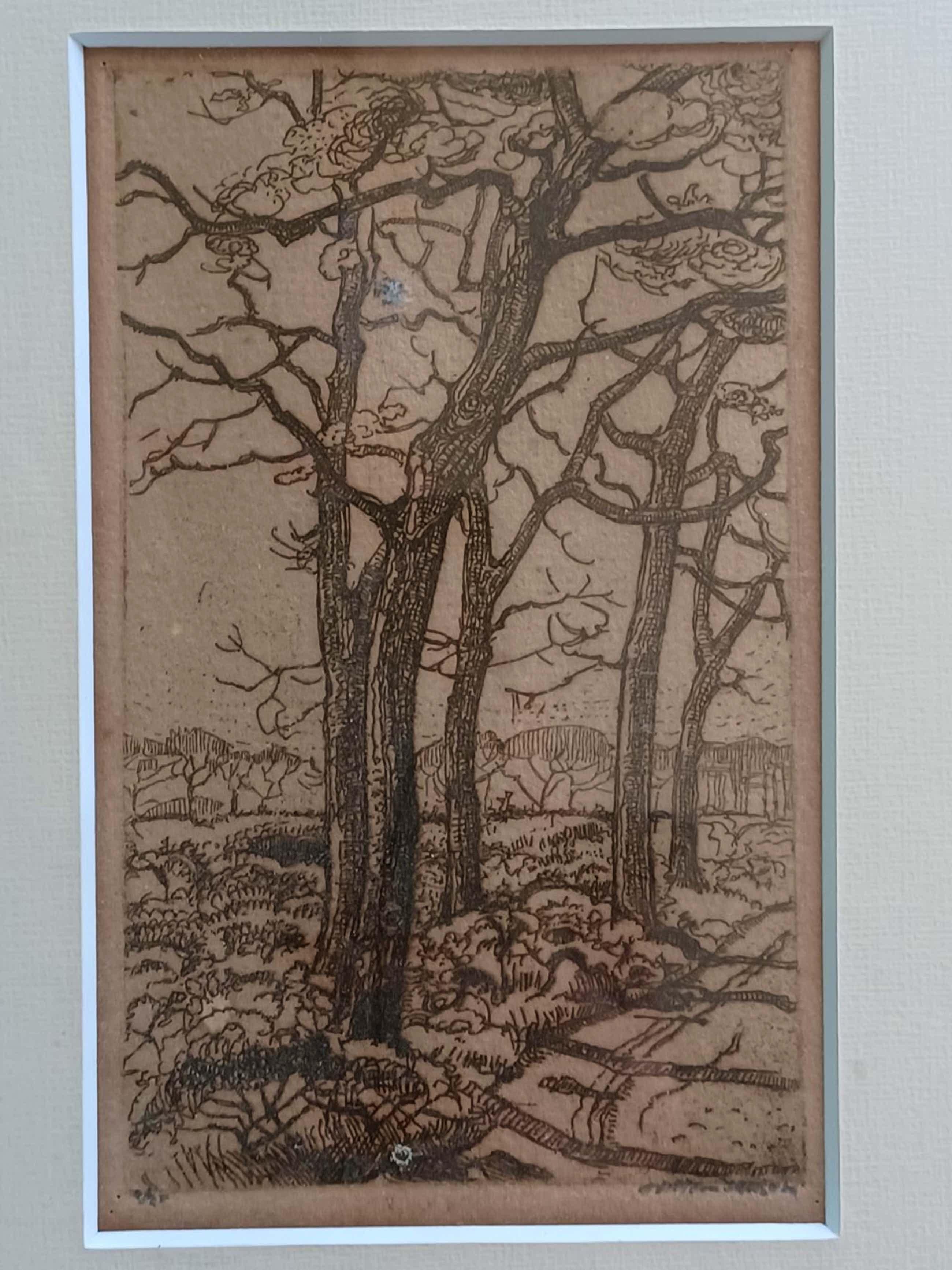 Willem Jansen - Landschap met bomen. kopen? Bied vanaf 45!